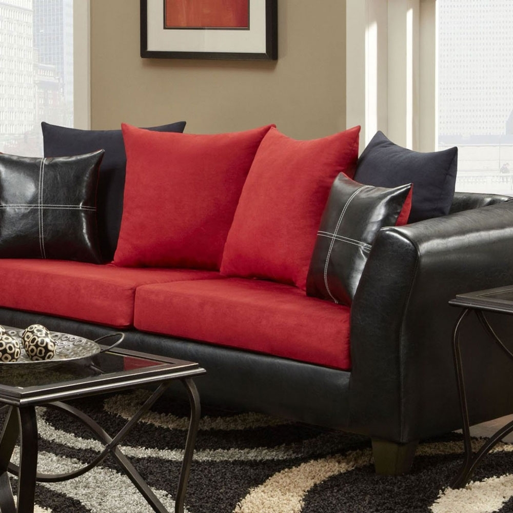 Sectional Sofa. Amazing Sectional Sofa Under 500 2017: Black-And-Red for Sectional Sofas Under 500 (Image 8 of 15)