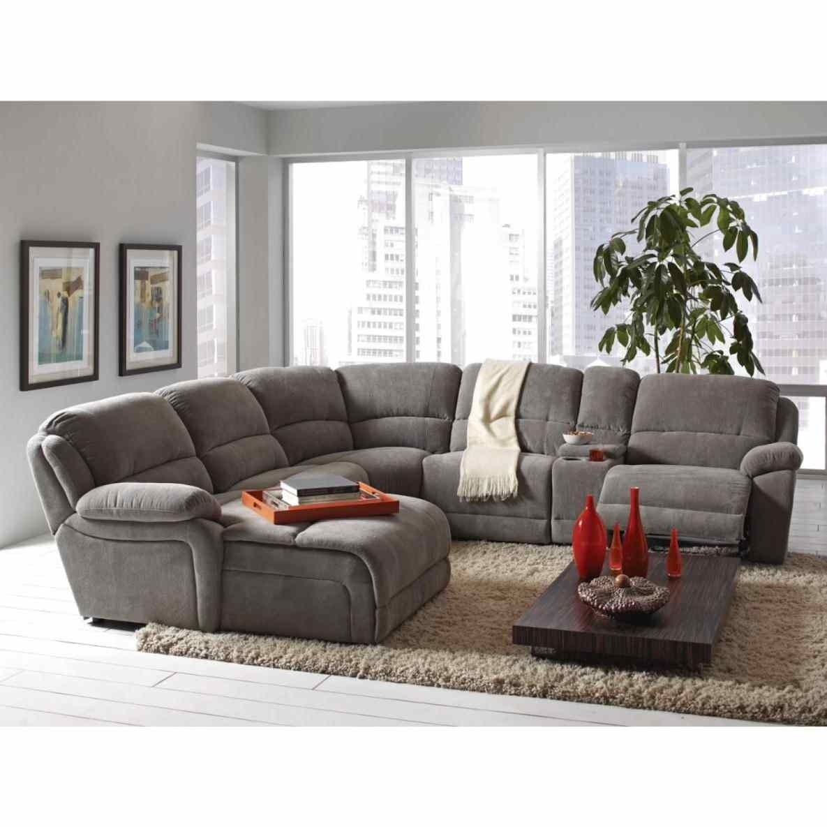 Sectional Sofa : Ashley Leather Sectional Armchair With Cup Holder 5 With Jedd Fabric Reclining Sectional Sofas (Image 9 of 10)