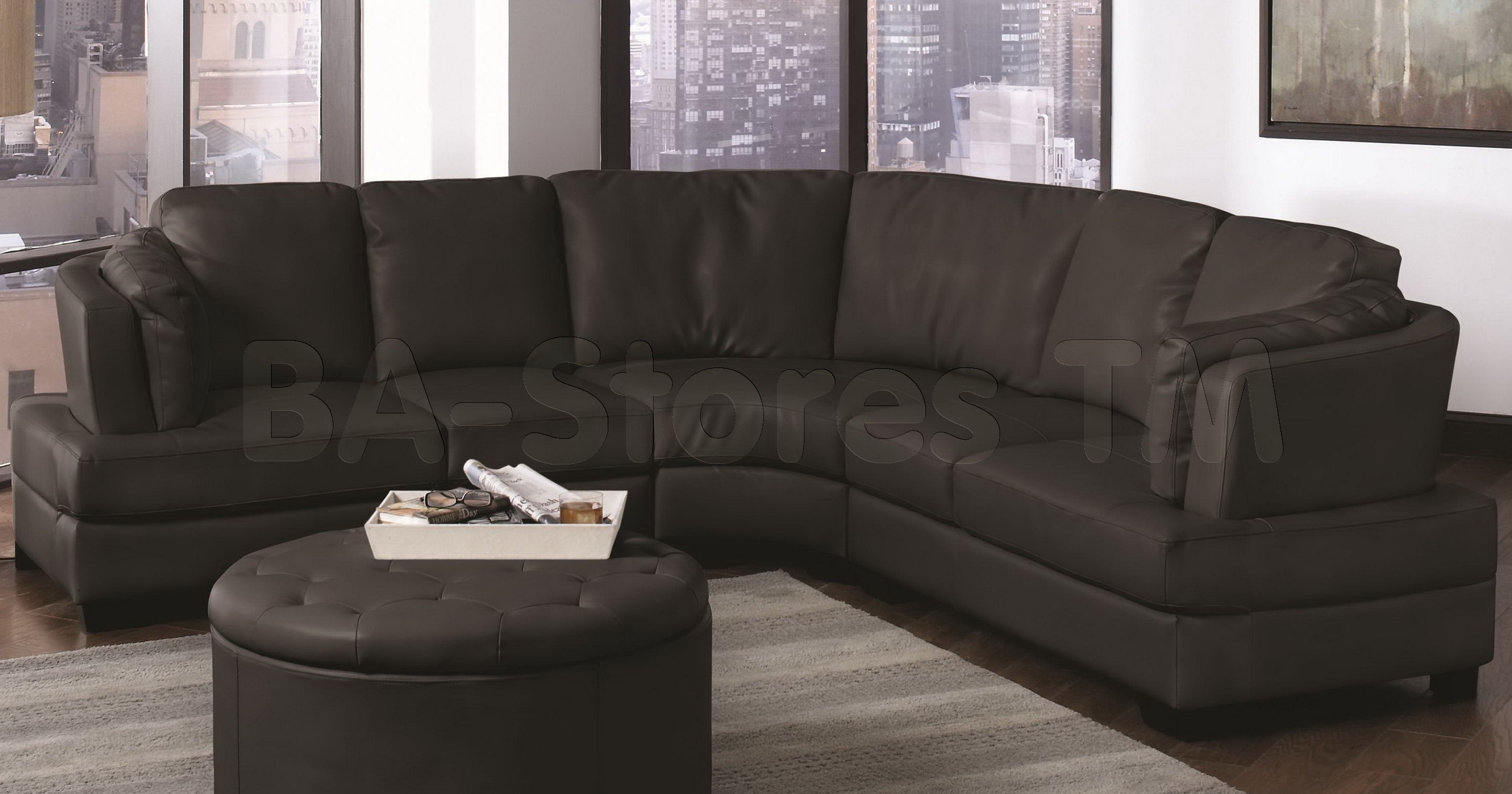 Sectional Sofa : Curved Corner Sectional Sofa Contemporary pertaining to Rounded Corner Sectional Sofas (Image 6 of 10)