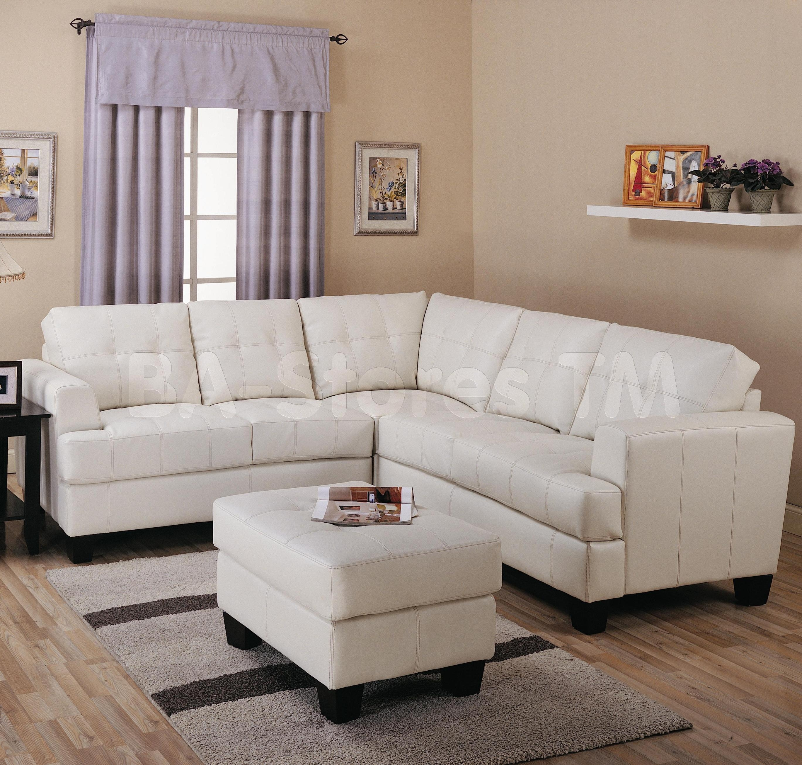 Sectional Sofa Design: Adorable Cream Leather Sectional Sofa Cream throughout Sacramento Sectional Sofas (Image 8 of 10)