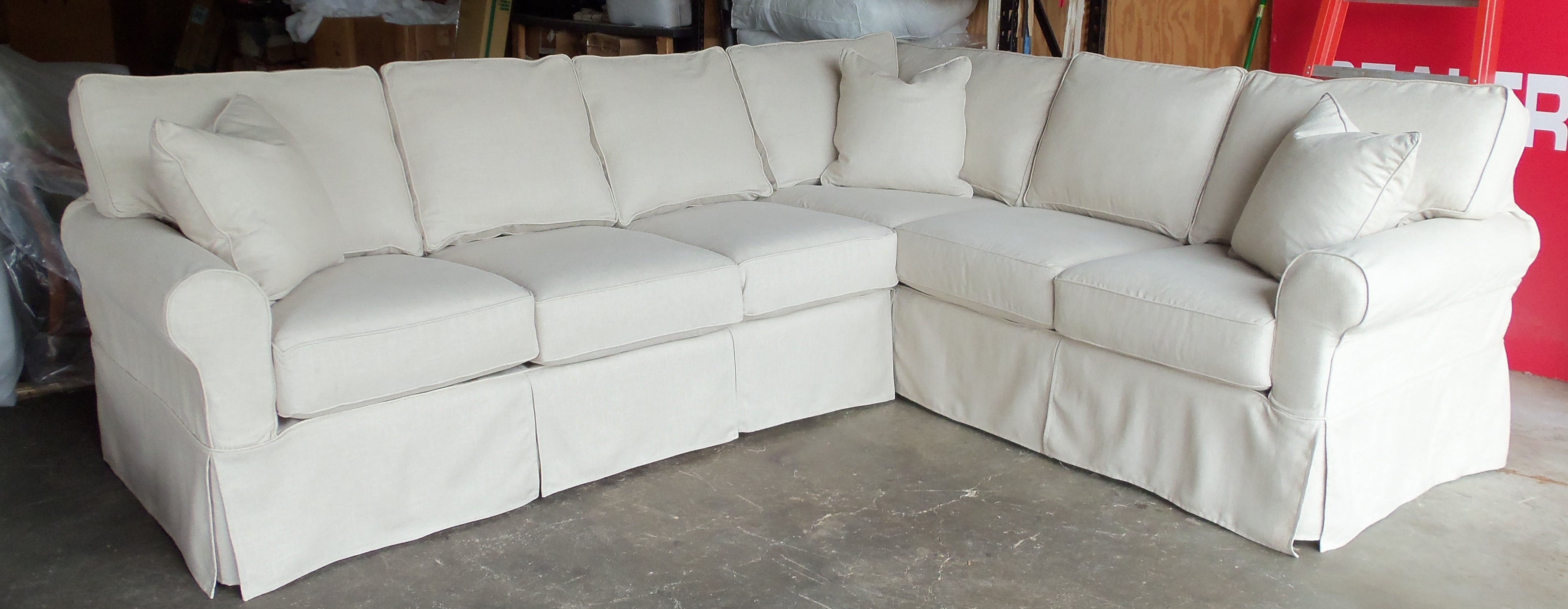Sectional Sofa Design: Most Comfortable Slipcover Sectional Sofas intended for Sectional Sofas With Covers (Image 12 of 15)