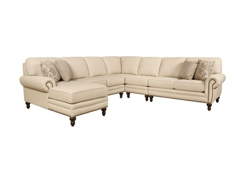 Sectional Sofa Design: Nailhead Sectional Sofa Fabric Leather Chaise Throughout Sectional Sofas With Nailheads (View 4 of 10)