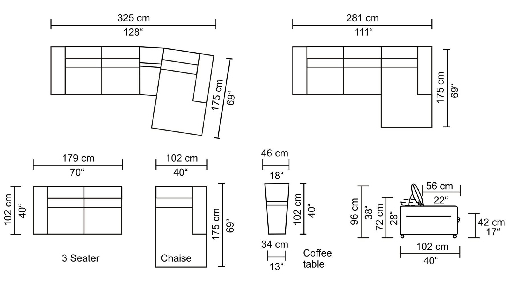 Sectional Sofa Design: Sectional Sofa Dimensions Standard England for Measurements Sectional Sofas (Image 8 of 10)