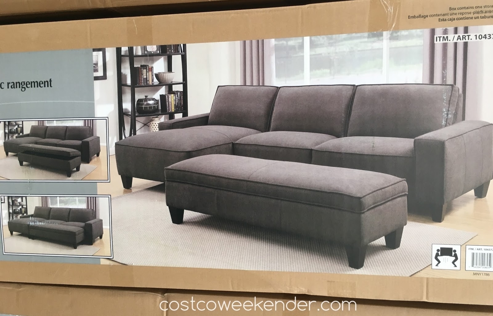 Sectional Sofa Design: Sectional Sofa With Chaise Costco Ikea regarding Sectional Sofas With Chaise And Ottoman (Image 14 of 15)
