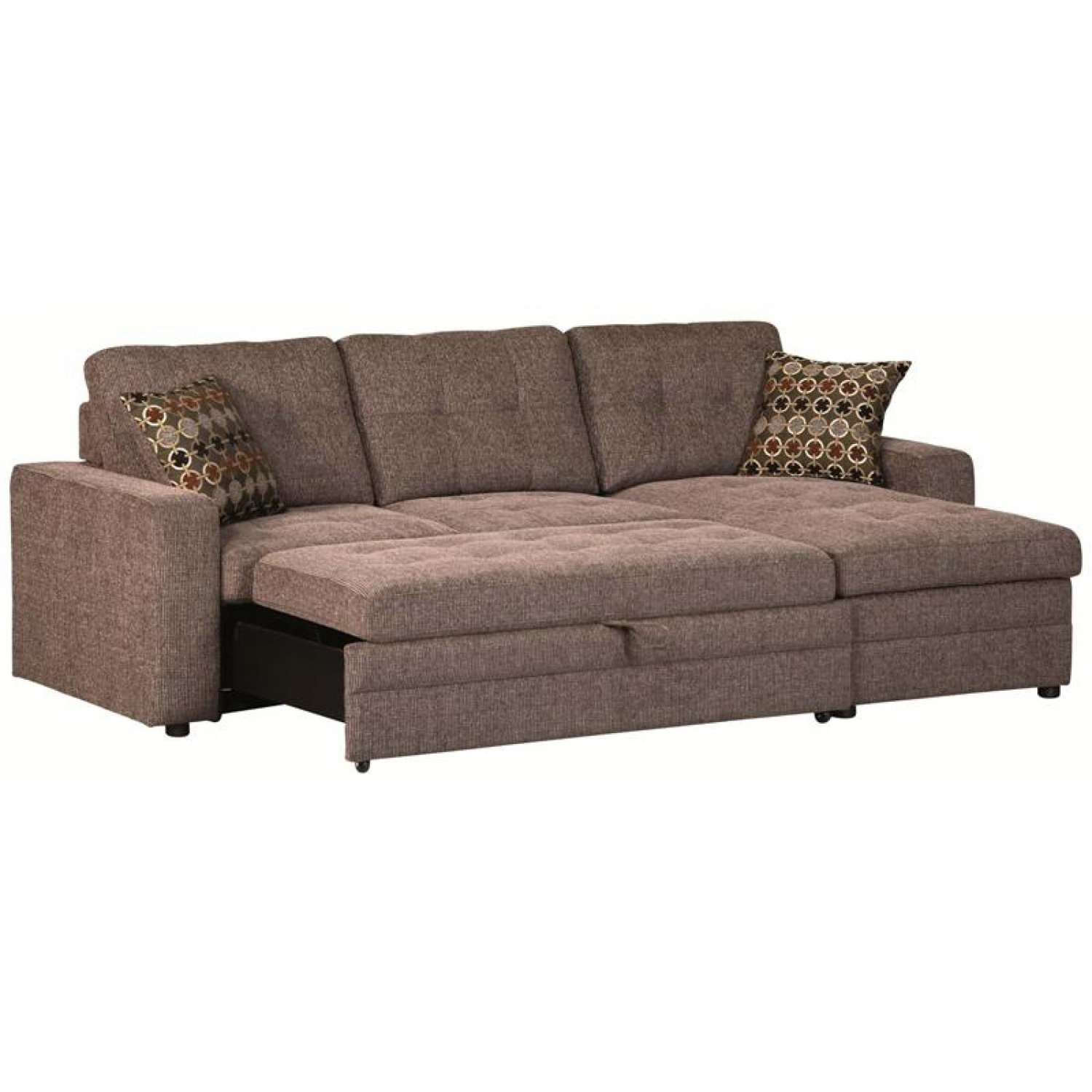 Sectional Sofa Design: Sectional Sofa With Pull Out Bed Recliner inside Pull Out Beds Sectional Sofas (Image 7 of 10)