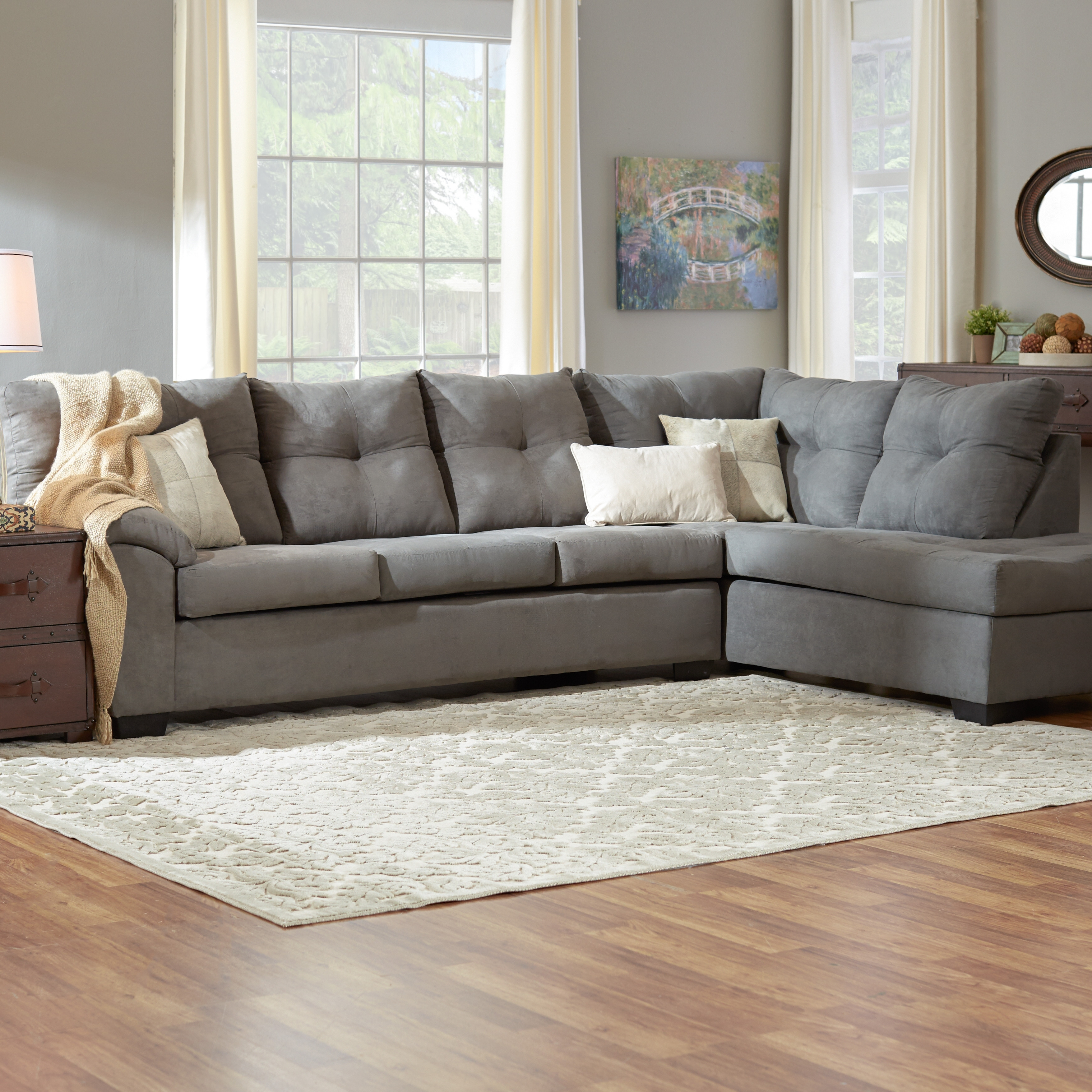 Sectional Sofa : Extra Large Sectional Sofas Oversized Sectional throughout Tufted Sectional Sofas (Image 7 of 10)