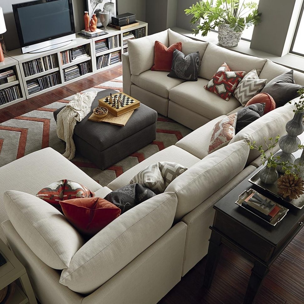 Sectional Sofa : Fabric Sectional Chaise Lounge Sofa U Shaped White pertaining to Dania Sectional Sofas (Image 8 of 10)