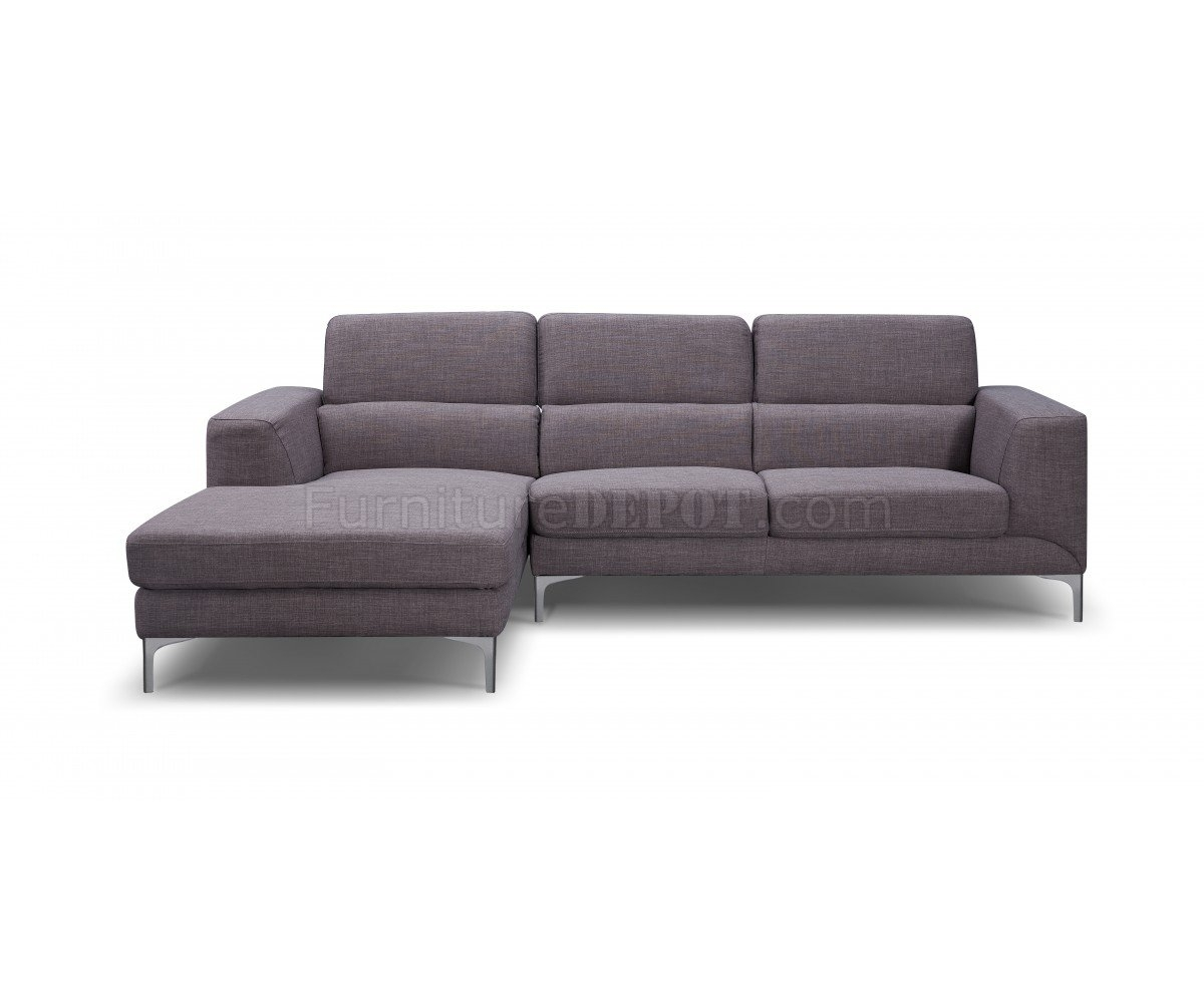 Sectional Sofa In Gray Fabricwhiteline within Sydney Sectional Sofas (Image 3 of 10)