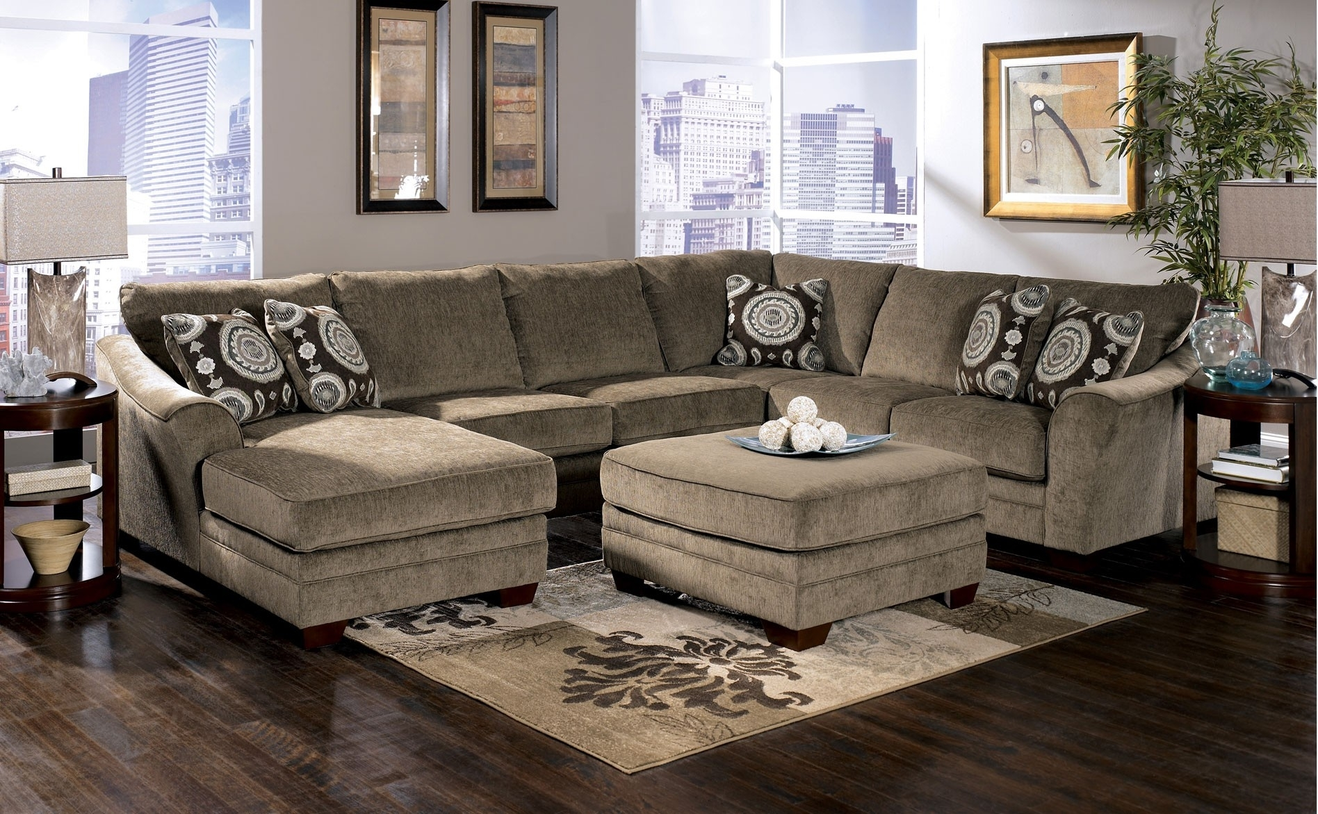 Sectional Sofa : Living~1 Sectional With Oversized Ottoman With Regard To Sectionals With Oversized Ottoman (View 9 of 15)