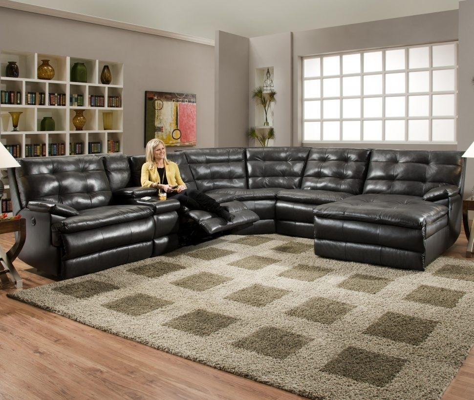 Sectional Sofa : Oversized Recliner Electric Leather Couch Leather Intended For Sectional Sofas With Recliners (View 11 of 15)