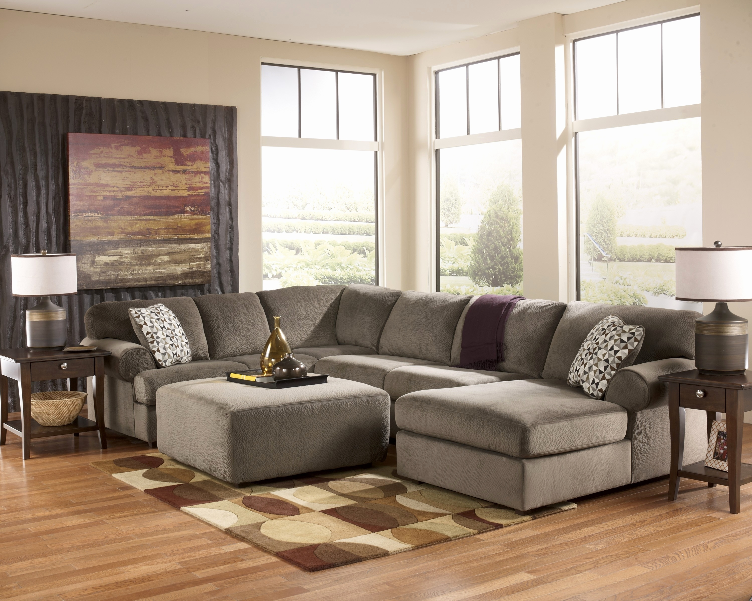 Sectional Sofa : Reclin~1 Sectional With Oversized Ottoman With Sectionals With Oversized Ottoman (View 11 of 15)