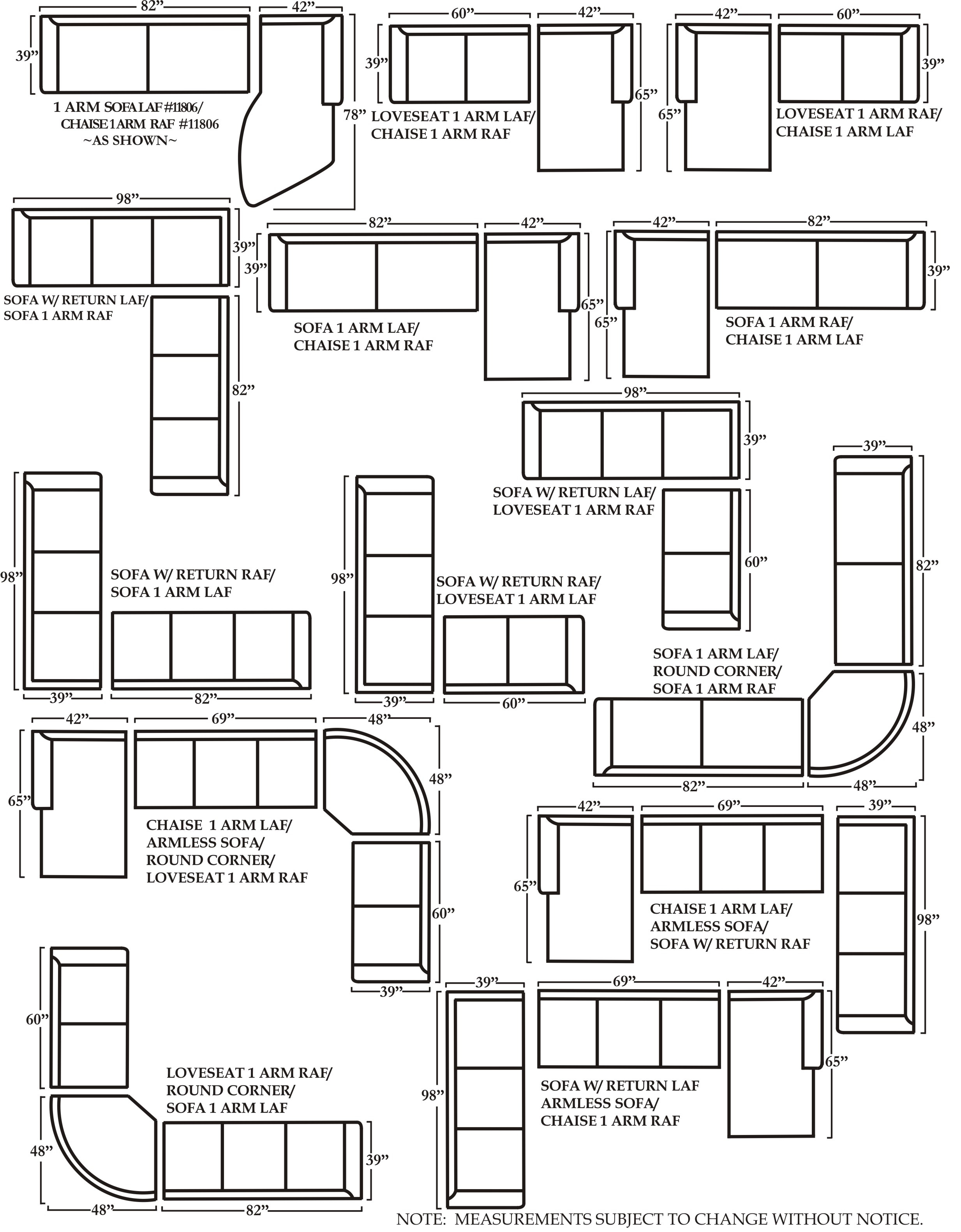 Sectional Sofa Sizes 48 D Sofa And Sectional Sizes Sofa Condo Sofa with Measurements Sectional Sofas (Image 9 of 10)