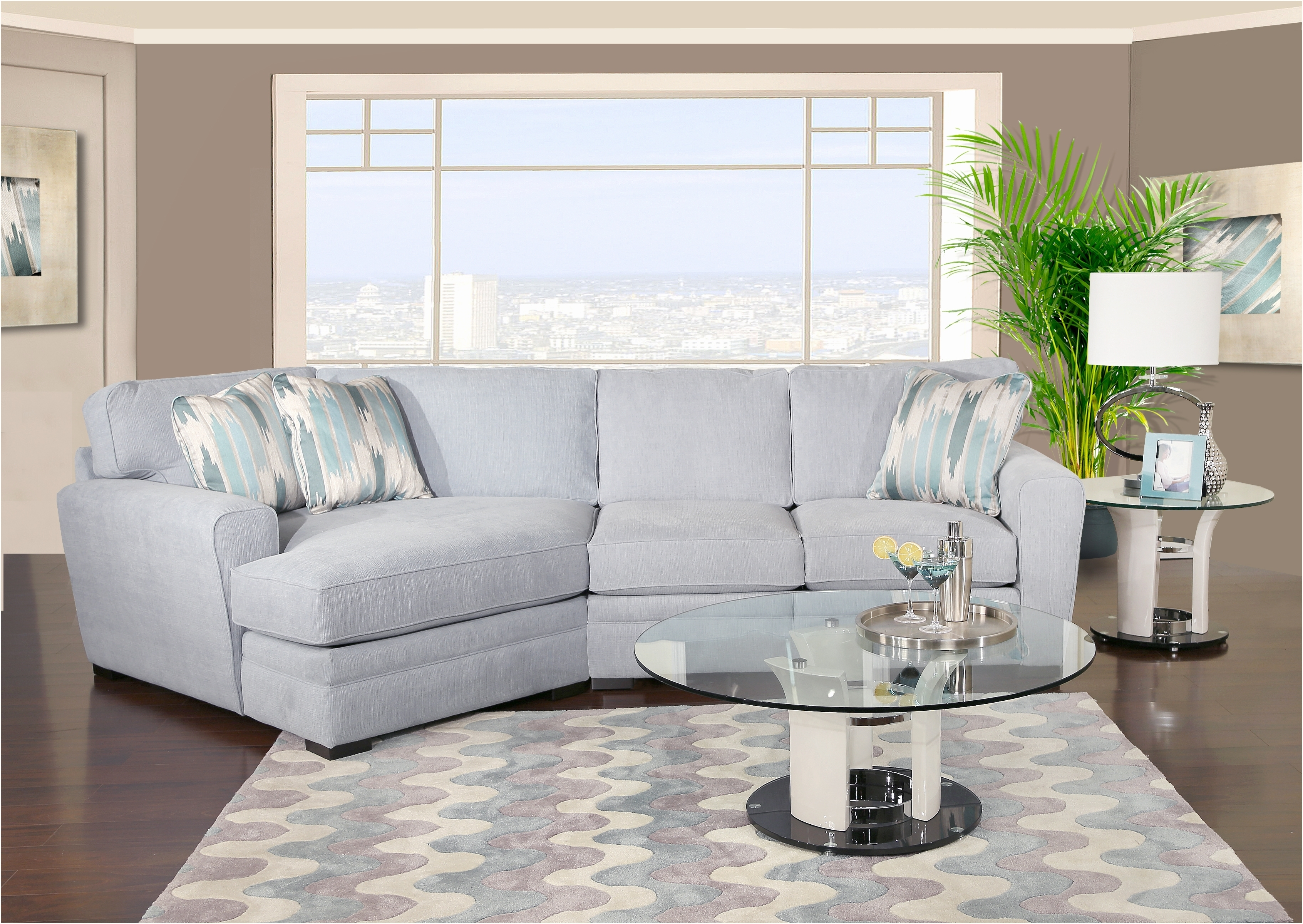 Sectional Sofa With Cuddler Chaise | Home Design Ideas And Inspiration In Kanes Sectional Sofas (View 3 of 10)