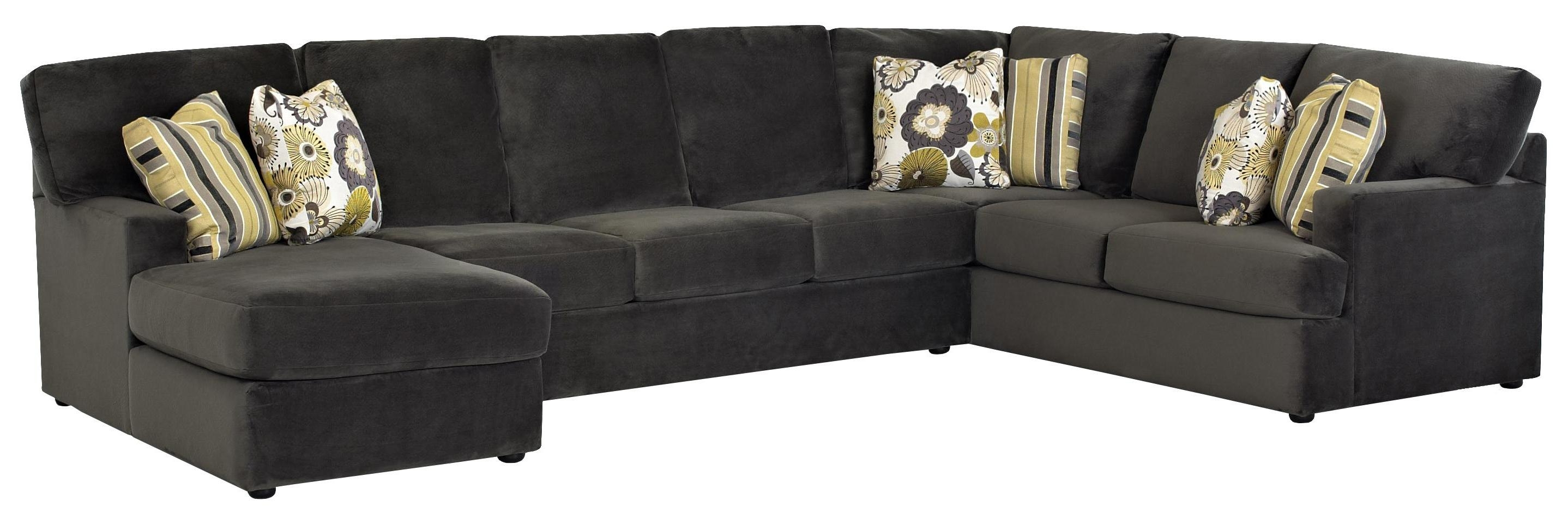 Sectional Sofa With Left Side Chaiseklaussner | Wolf And Inside Gardiners Sectional Sofas (View 7 of 10)