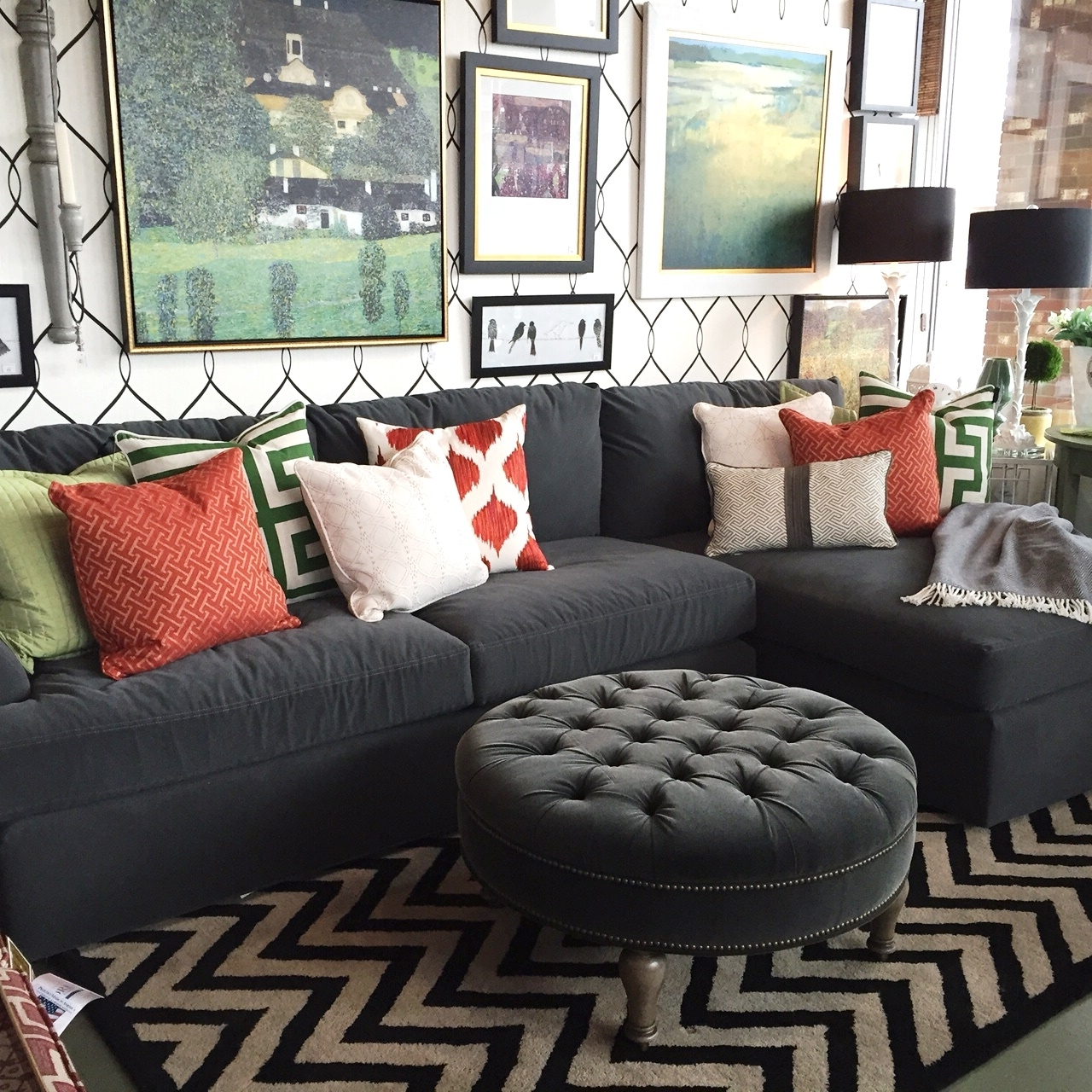 Sectional Sofas In Small Spaces | Trellis Of Erie Intended For Small Sectional Sofas With Chaise And Ottoman (View 9 of 15)