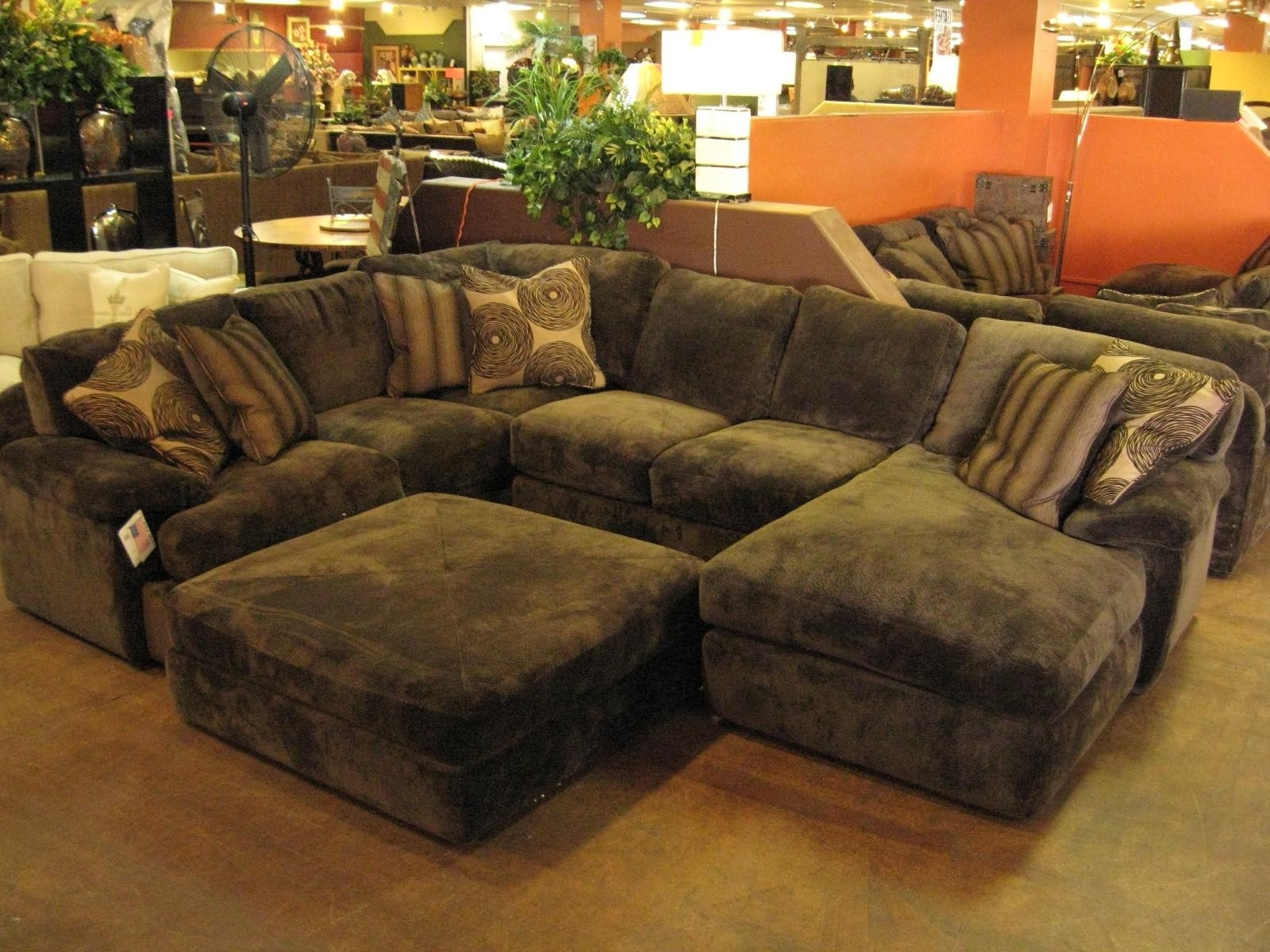 Sectional Sofas Large Sofa With Ottoman Regard To Idea 11 with Sofas With Large Ottoman (Image 10 of 10)