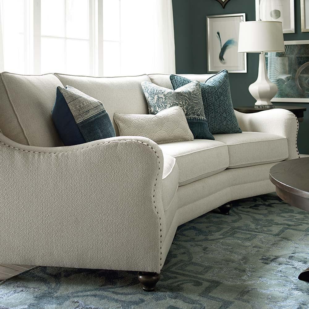 Sectional Sofas Living Room Furniture Bassett Kidney Shaped pertaining to Sectional Sofas At Bassett (Image 14 of 15)