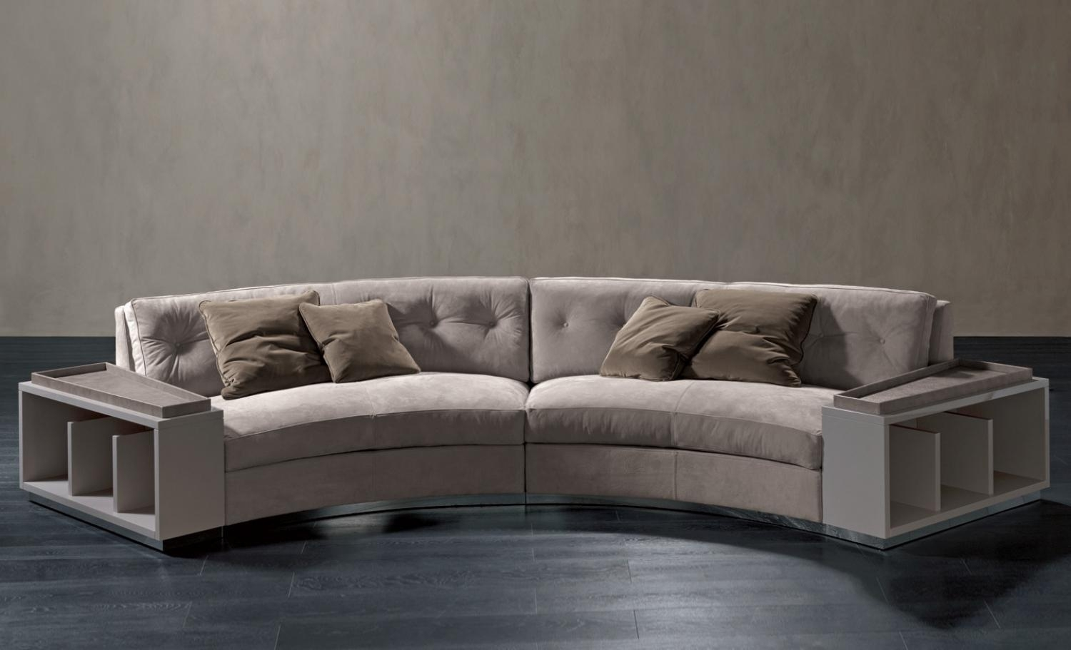Semi Circular Sofa In Leather Circus, Rugiano – Luxury Furniture Mr Intended For Semicircular Sofas (View 2 of 10)
