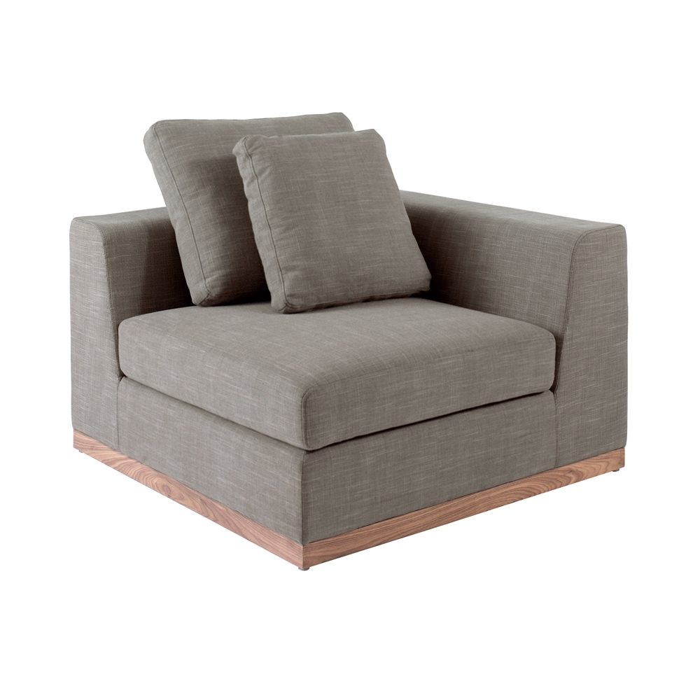 Seville Modular Corner Unit Single Mocha - Dwell regarding Single Sofas (Image 7 of 10)