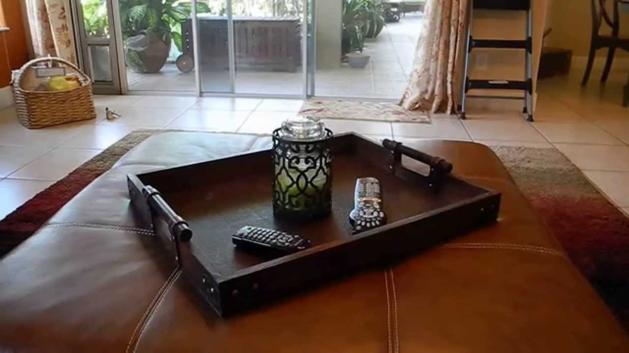 Shop My Home: Restyled Ottoman Tray – Youtube Regarding Ottomans With Tray (View 11 of 15)