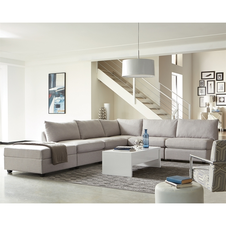 Shop Scott Living Charlotte Casual Gray Sectional At Lowes throughout Charlotte Sectional Sofas (Image 10 of 10)