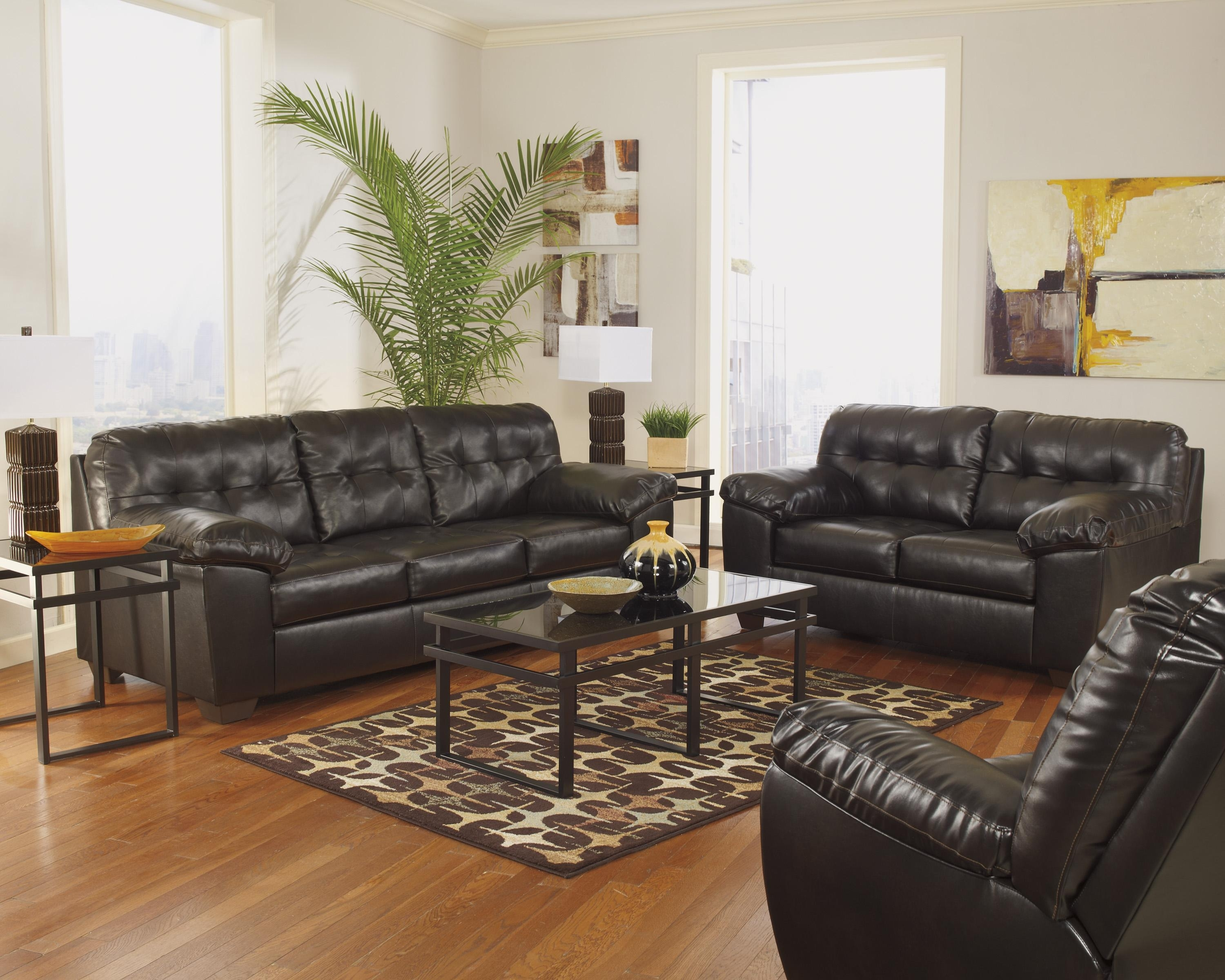 Signature Designashley Alliston Durablend® - Chocolate Queen within Ashley Tufted Sofas (Image 5 of 10)