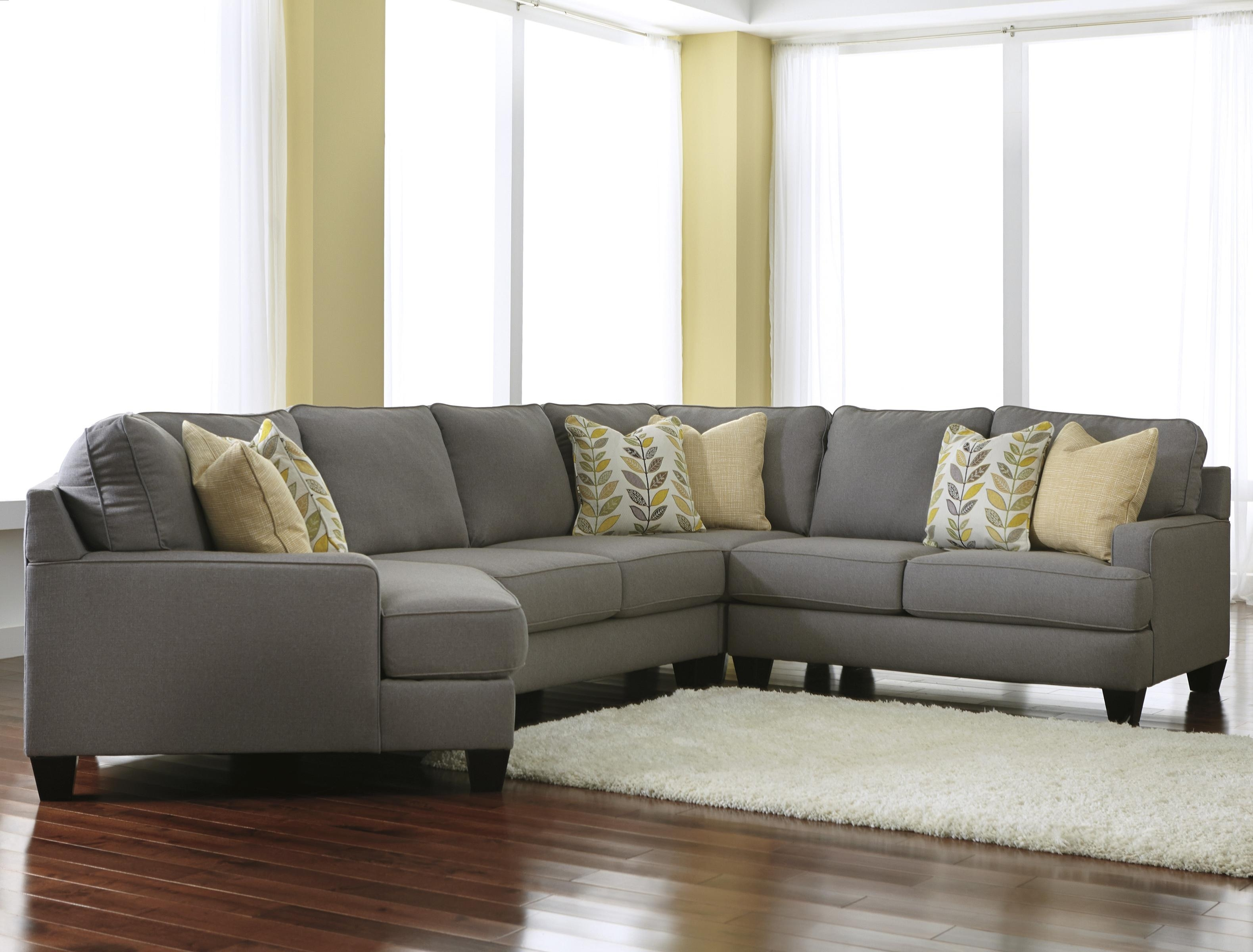 Signature Designashley Chamberly - Alloy Modern 4-Piece with Sectional Sofas With Cuddler (Image 9 of 10)