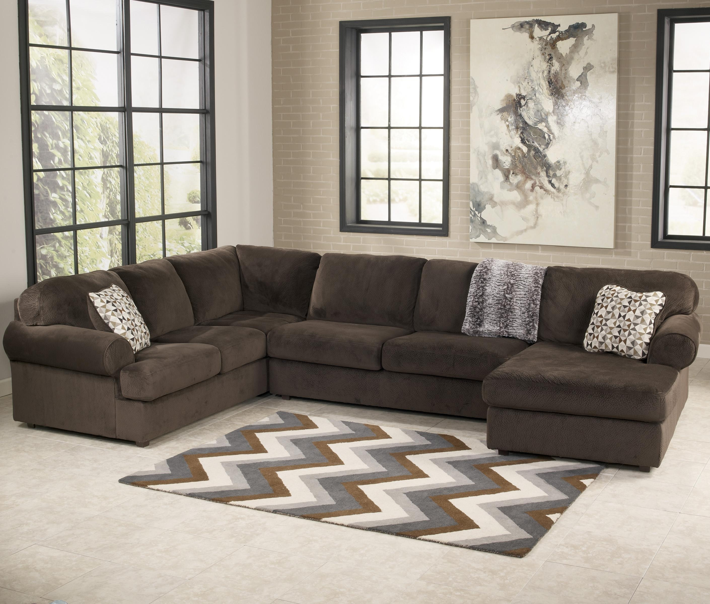 Signature Designashley Jessa Place - Chocolate Casual Sectional inside Jonesboro Ar Sectional Sofas (Image 9 of 10)