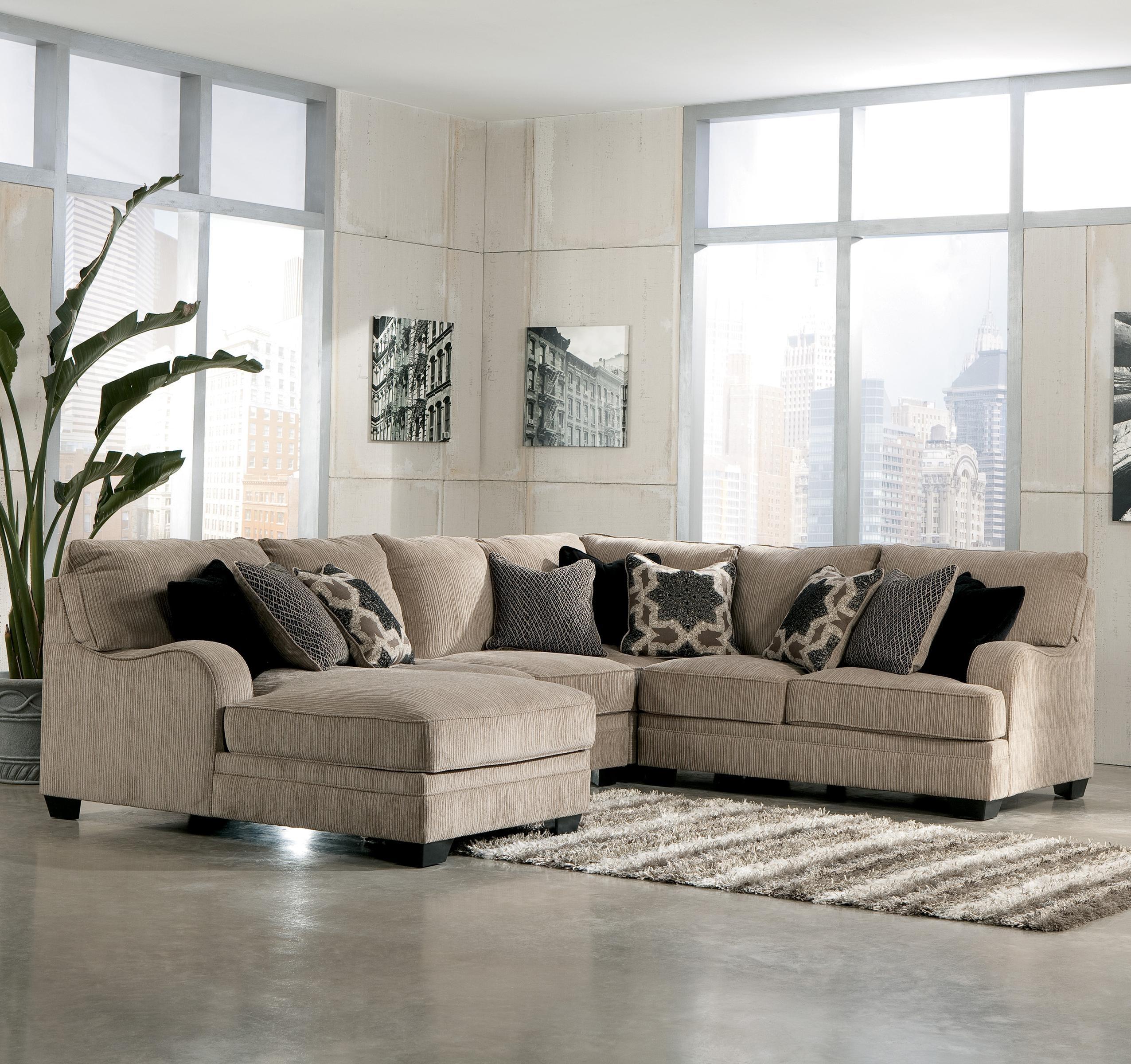 Signature Designashley Katisha - Platinum 4-Piece Sectional Sofa regarding Peterborough Ontario Sectional Sofas (Image 8 of 10)