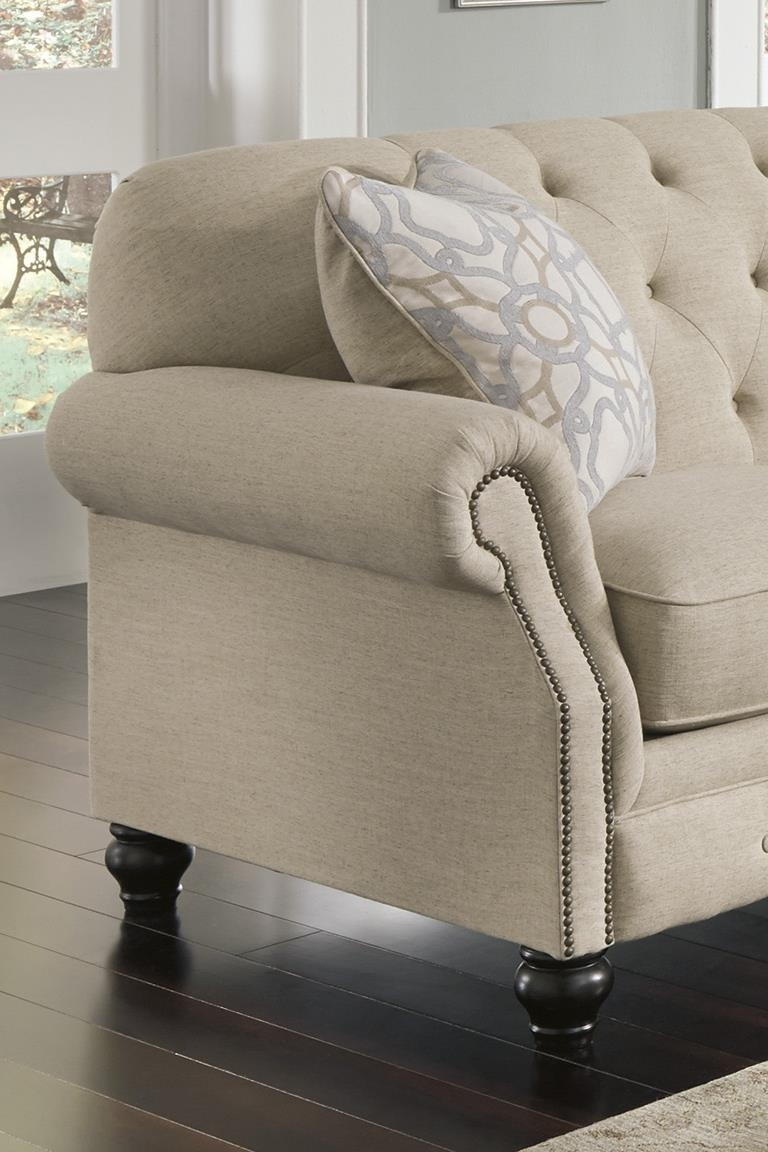 Signature Designashley Kieran Traditional Sofa With Tufted Back with regard to Ashley Tufted Sofas (Image 6 of 10)