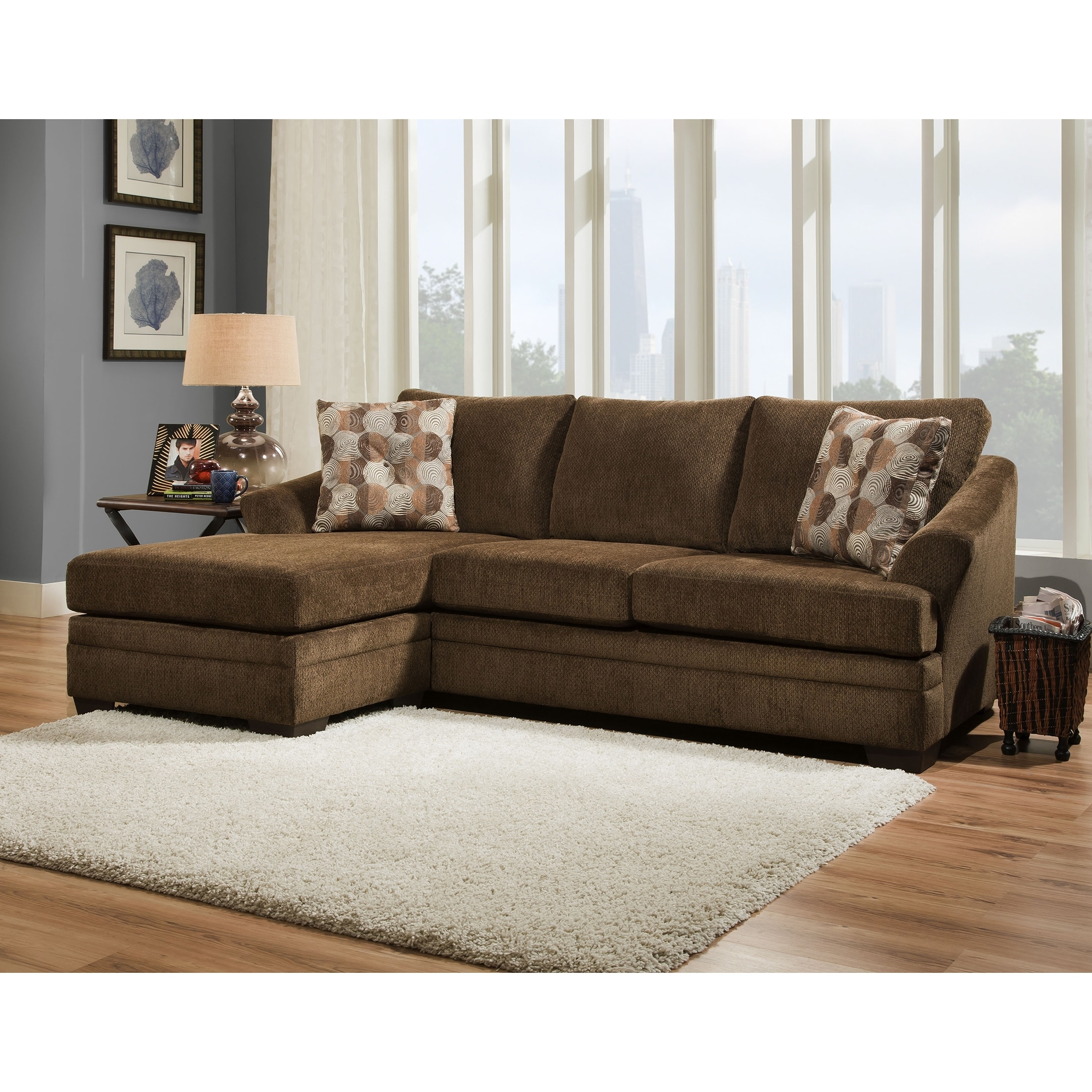 Simmons Upholstery Albany Sofa Chaise - Free Shipping Today inside Simmons Chaise Sofas (Image 9 of 10)
