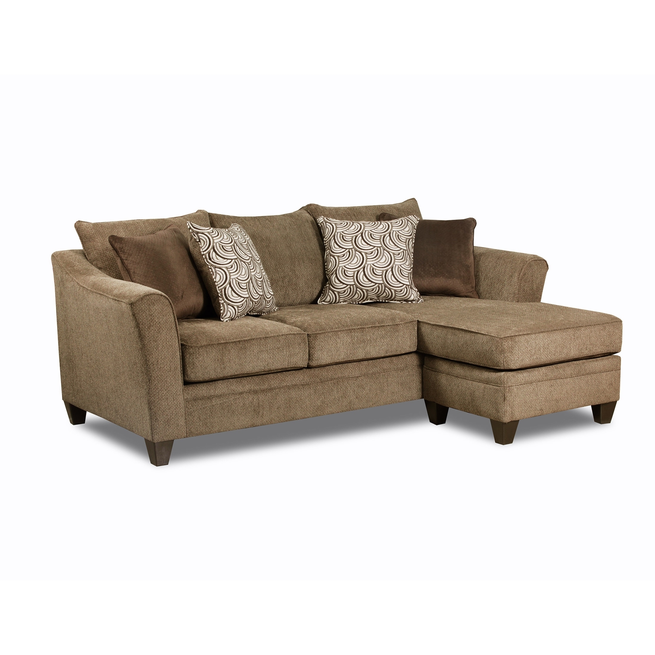 Simmons Upholstery Albany Truffle Sofa Chaise - Free Shipping Today throughout Simmons Chaise Sofas (Image 10 of 10)