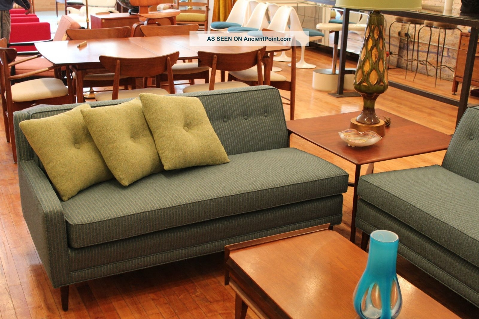 Simple Retro Sectional Sofa 55 In Conversation Sofa Sectional With Inside Vintage Sectional Sofas (View 7 of 10)