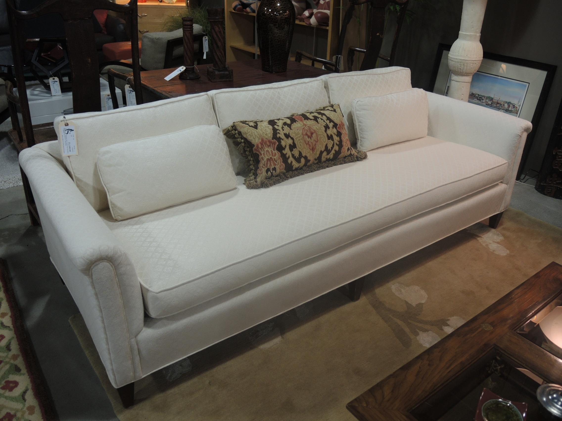 Single Bench Cushion Sofa - Incline Bench Press throughout Deep Cushion Sofas (Image 8 of 10)