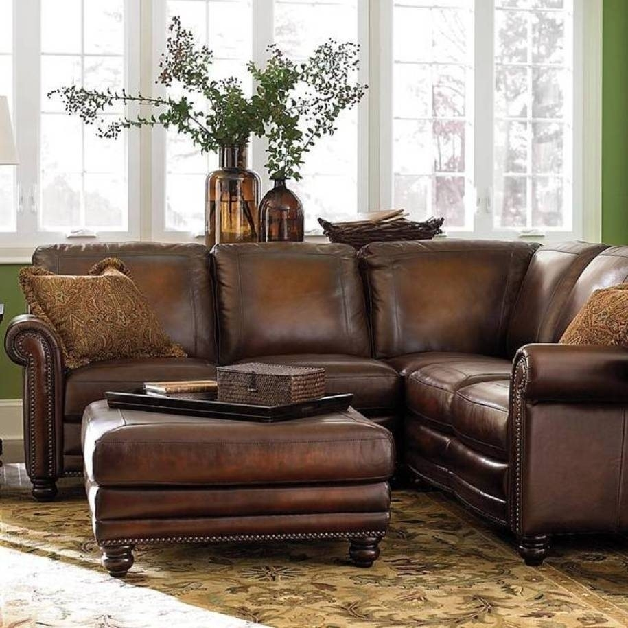 Small Leather Sofa And Teak Outdoor Plus Chaise Lounge Or Espresso for Apartment Sectional Sofas With Chaise (Image 9 of 10)