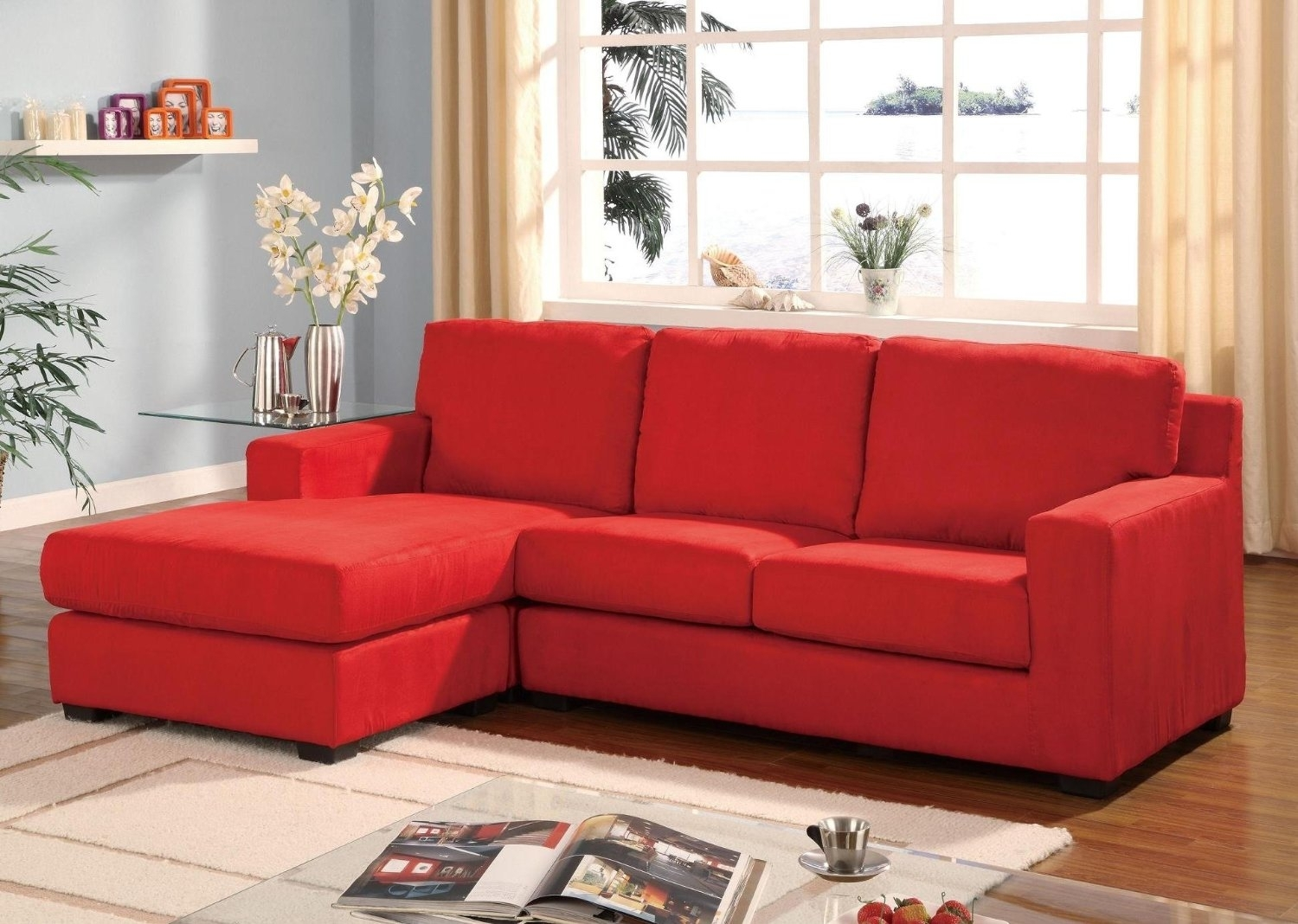 Small Red Sectional Sofa - Home And Textiles inside Small Red Leather Sectional Sofas (Image 6 of 15)