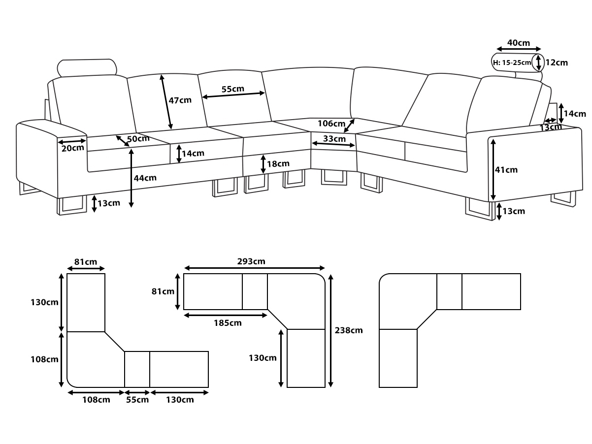 Small Sectional Sofa Sizes • Sectional Sofa with regard to Measurements Sectional Sofas (Image 10 of 10)