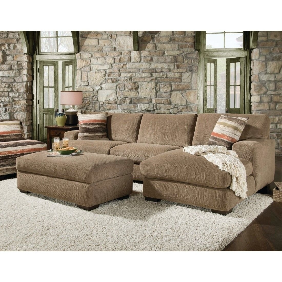 Popular Photo of Small Sectional Sofas With Chaise And Ottoman