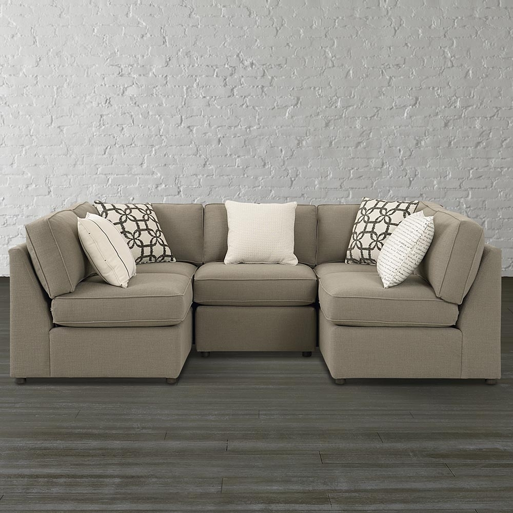 Small U Shaped Sectional Sofa — Fabrizio Design : Fashionable U with Small U Shaped Sectional Sofas (Image 9 of 15)