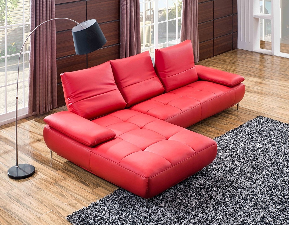 Sofa : 5 Piece Sectional Couch Small Red Sectional Sofa Black within Small Red Leather Sectional Sofas (Image 9 of 15)