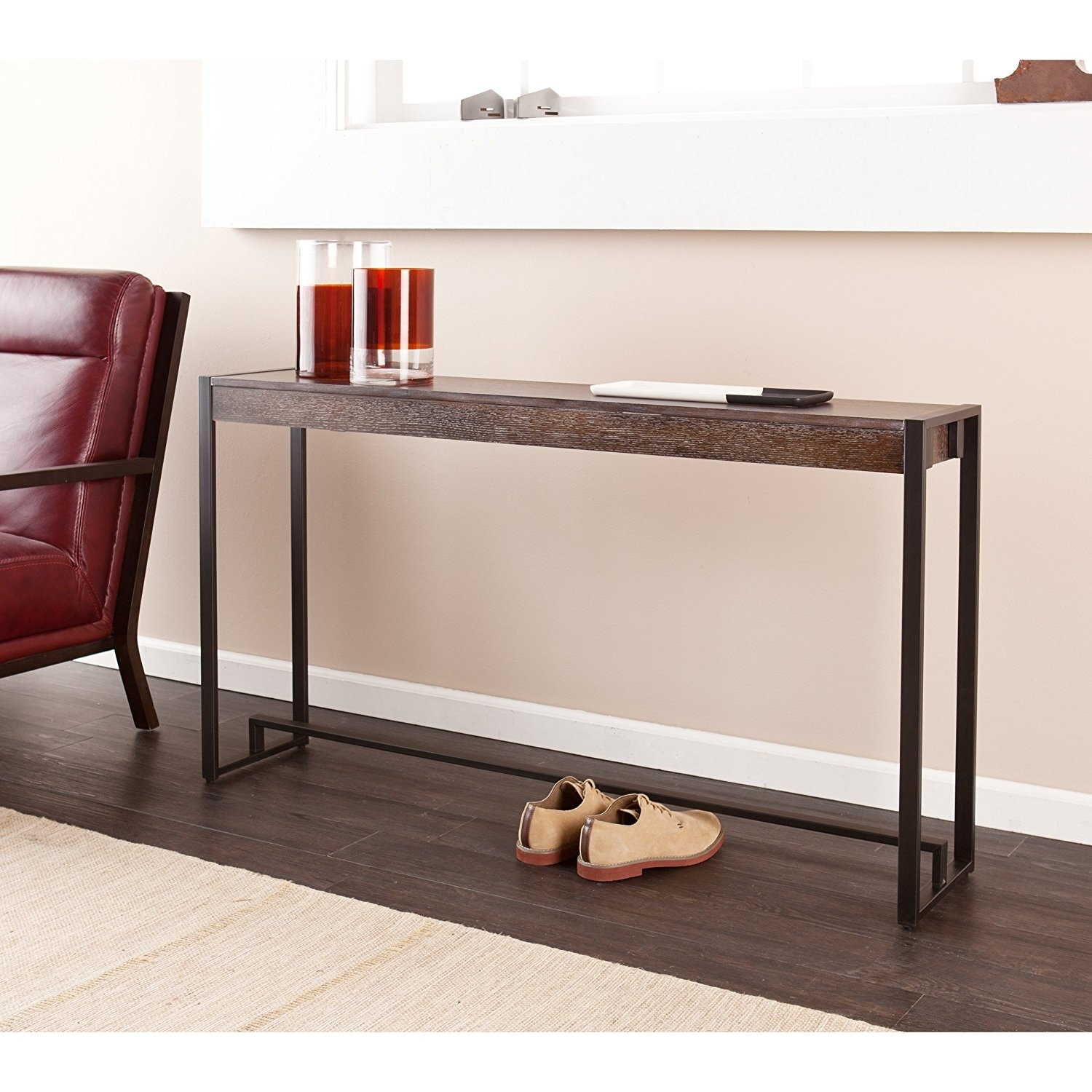 Sofa Back Table Dimensions Best Console Tables Amazon Com Black For with Sofas With Back Consoles (Image 8 of 10)