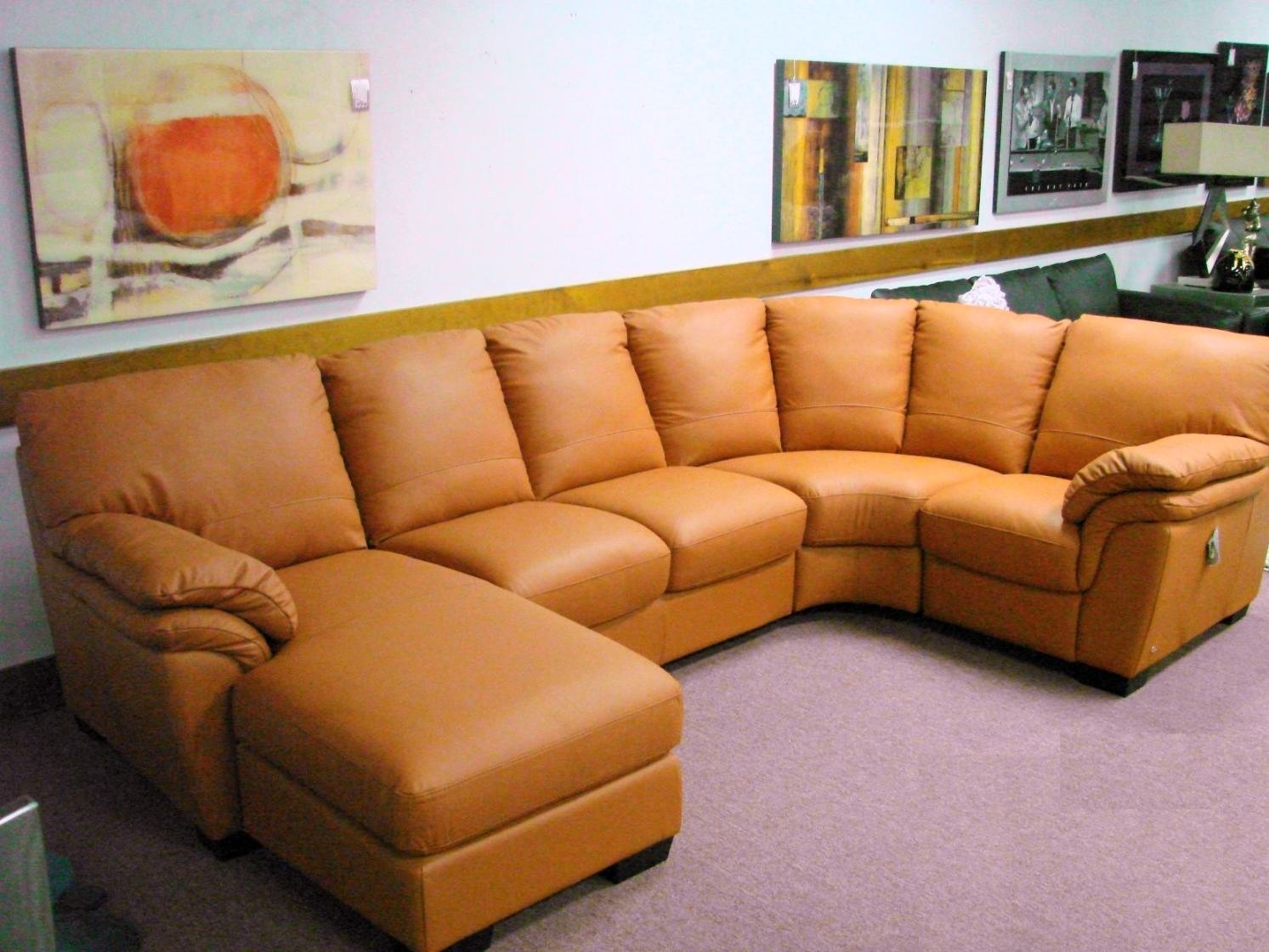 Sofa : Caramel Colored Leather Sofa Camel Color Sectional Sofacarmel inside Camel Colored Sectional Sofas (Image 10 of 10)
