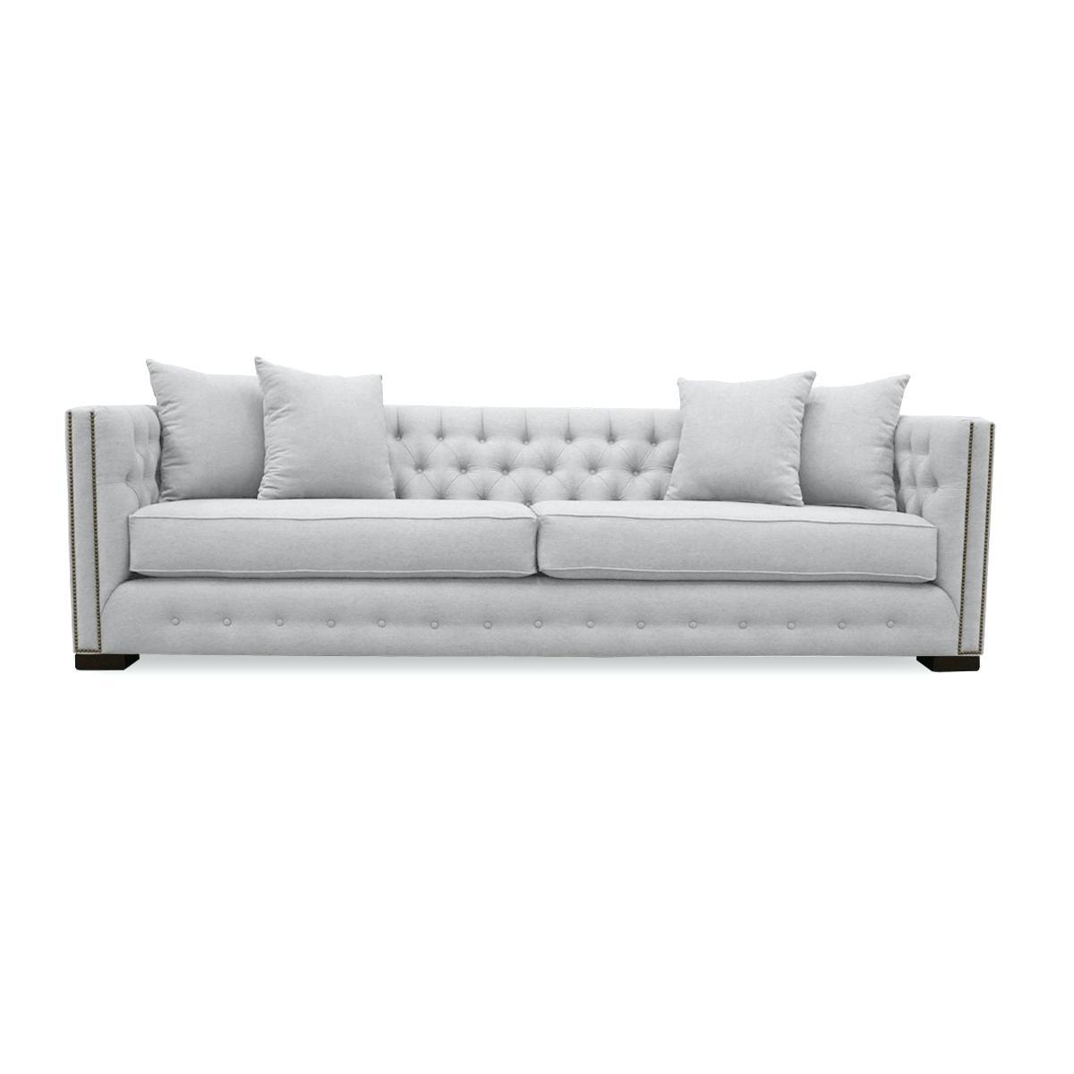 Sofa : Grey Tufted Sofa Charcoal Gray Nailhead Light Salt Lake City inside Salt Lake City Sectional Sofas (Image 9 of 10)