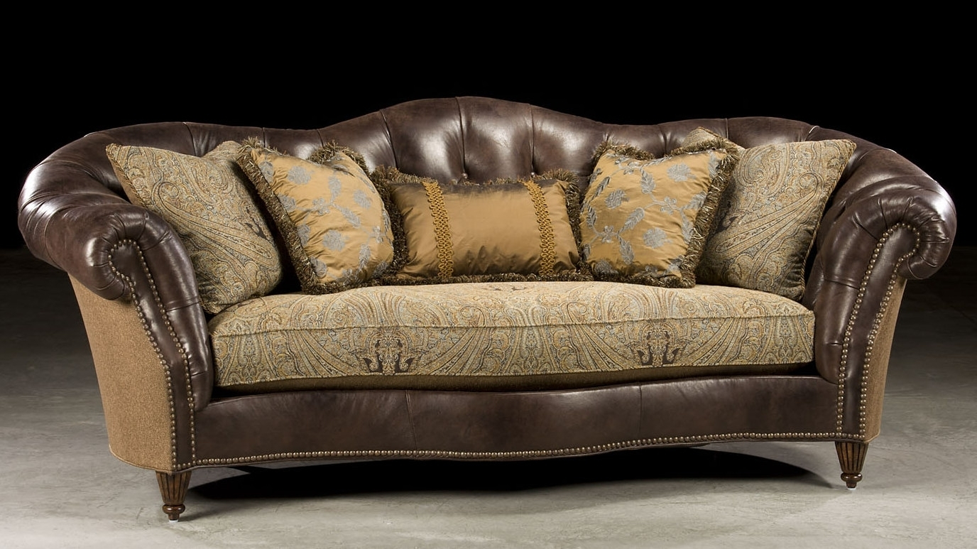 Sofa: Ideas Leather And Fabric Sofas Leather Or Fabric Sofa With Regard To Leather And Cloth Sofas (View 4 of 10)