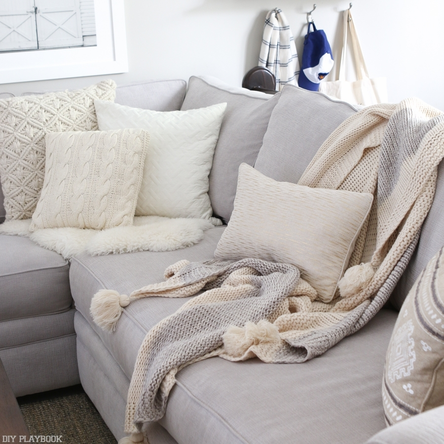 Sofa : Large White Decorative Pillows Unique Sofa Pillows Pillow within Sofas With Oversized Pillows (Image 10 of 10)