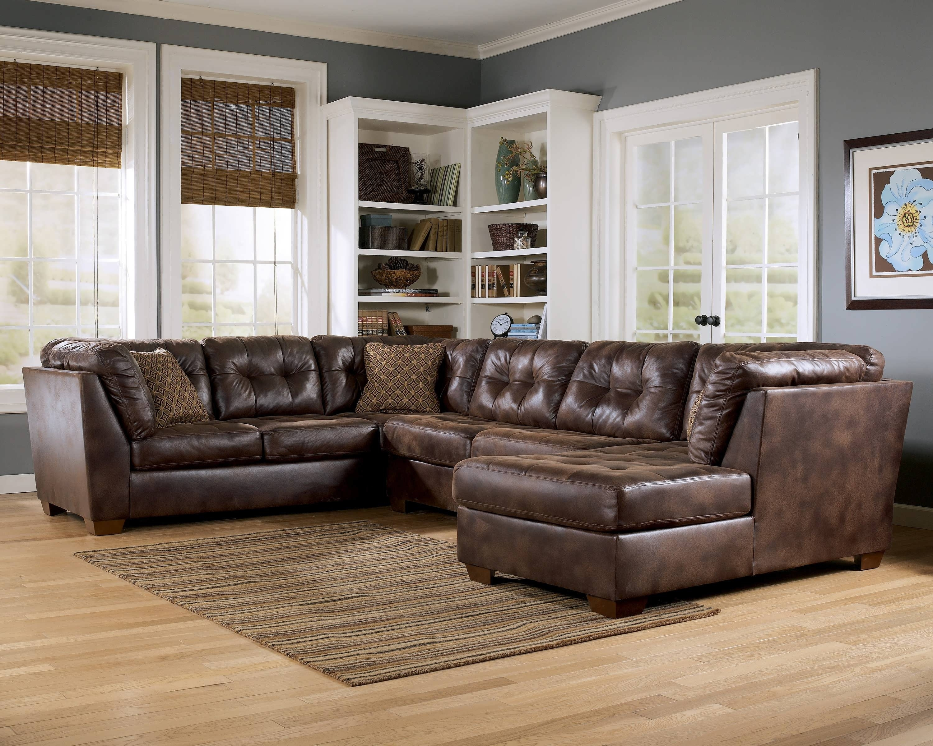 Sofa Leather Sectional Sofas Collection Of Brown Black Couch For for Memphis Tn Sectional Sofas (Image 9 of 10)