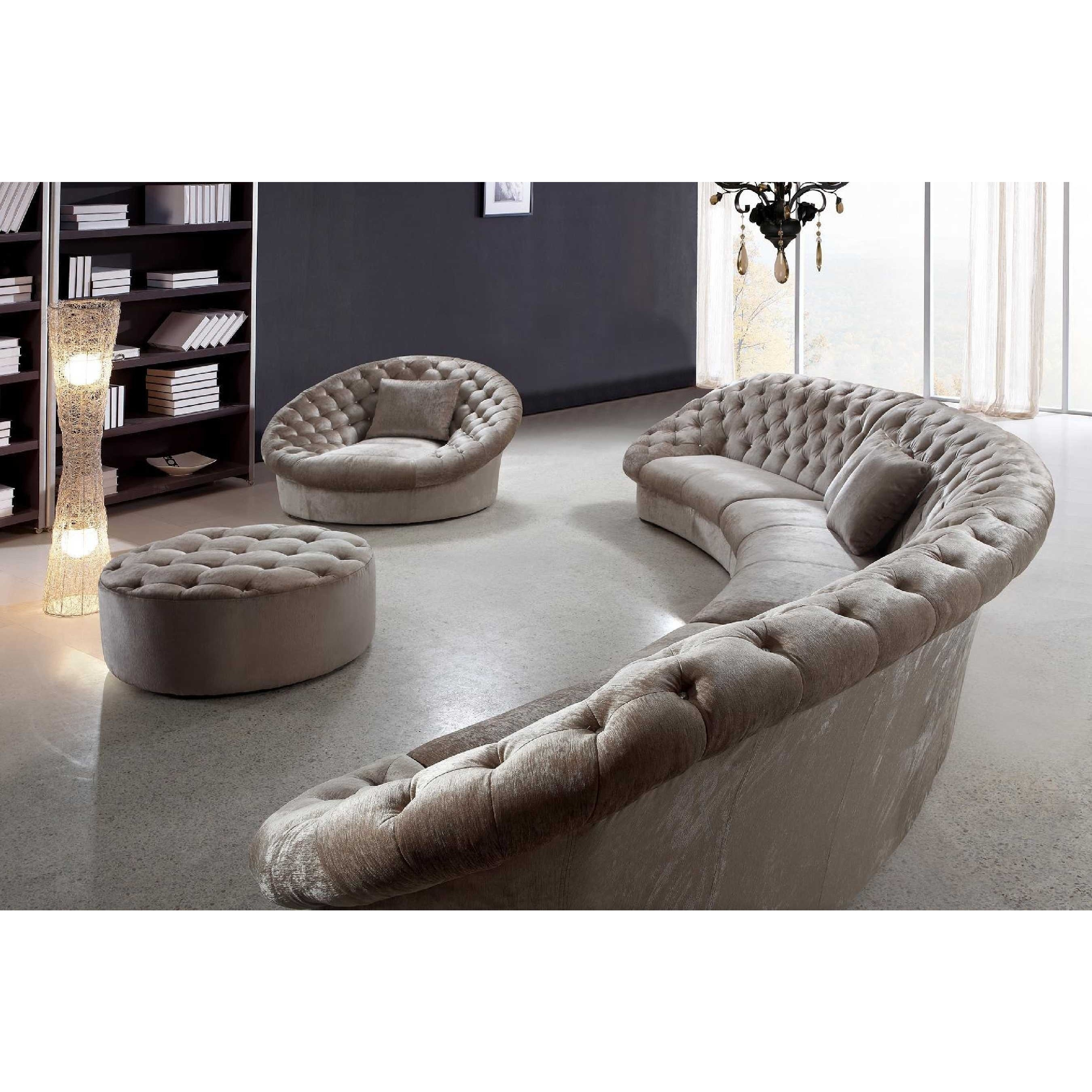 Sofa : Luxury Round Sectional Sofa Bed Curved Semi Circular Sofas Pertaining To Semicircular Sofas (View 6 of 10)