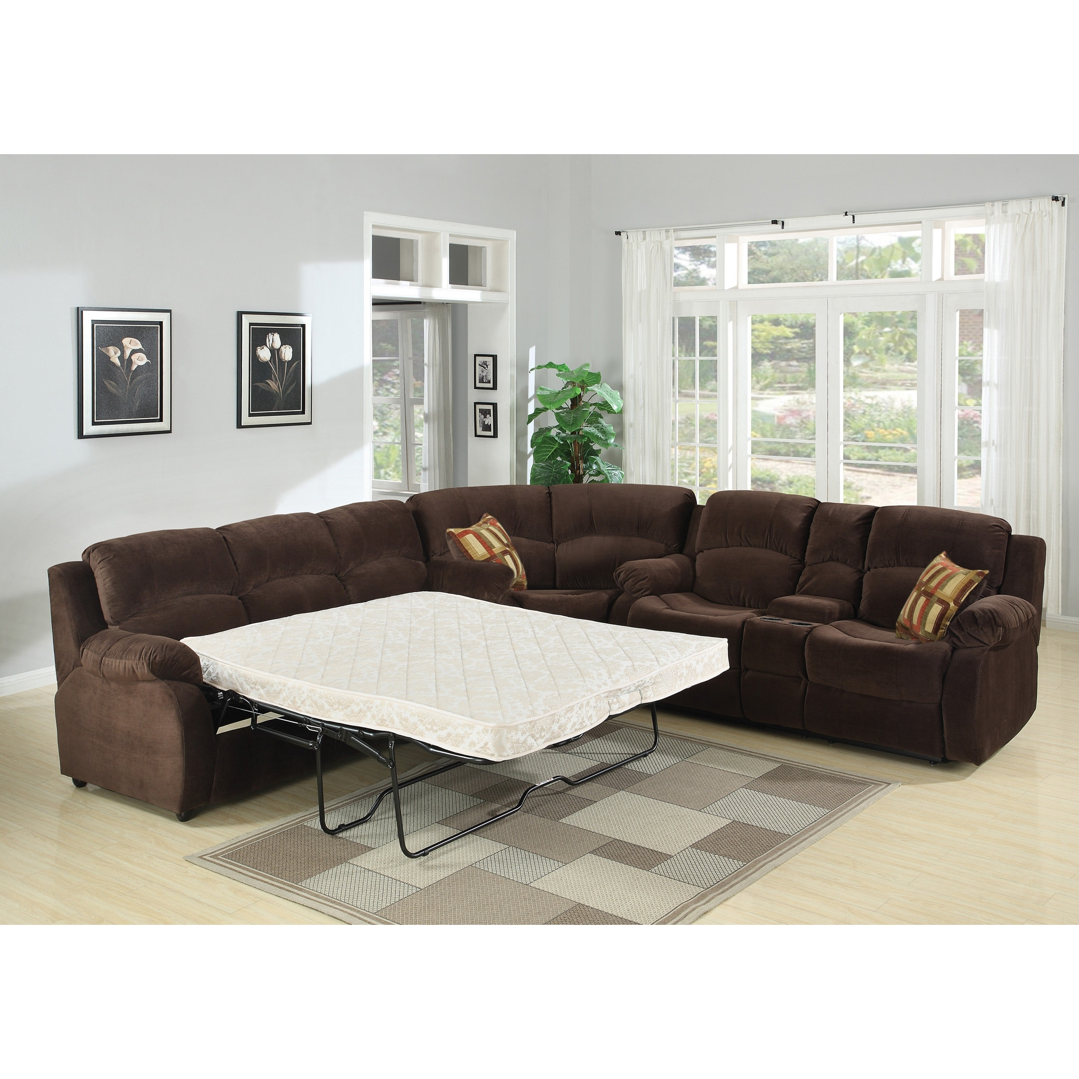 Sofa : Magnificent Sectional Sofa Queen Bed Great Sleeper Sectionals Inside Adjustable Sectional Sofas With Queen Bed (View 10 of 10)