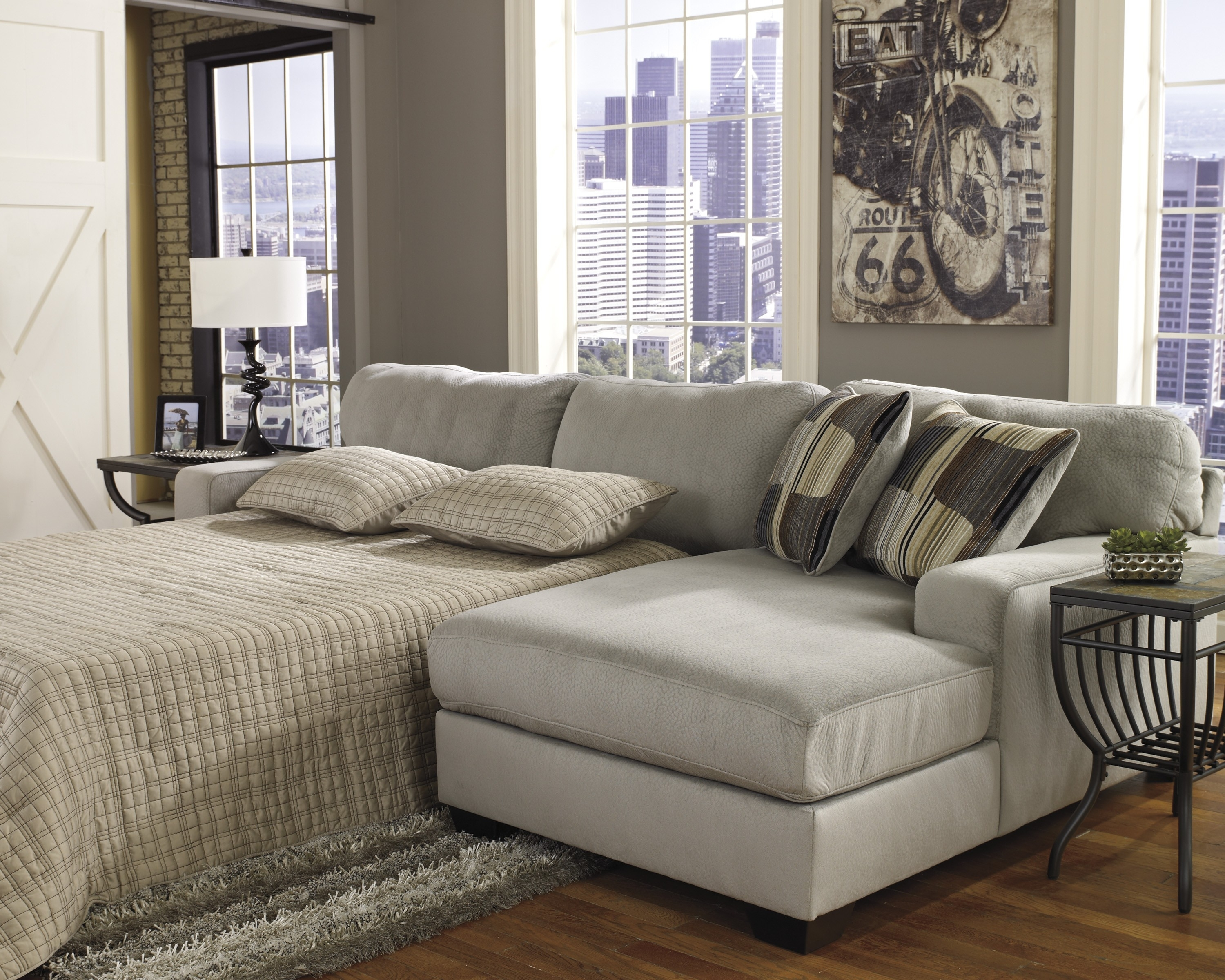 Sofa : Magnificent Sectional Sofa Queen Bed Great Sleeper Sectionals Throughout Adjustable Sectional Sofas With Queen Bed (View 8 of 10)