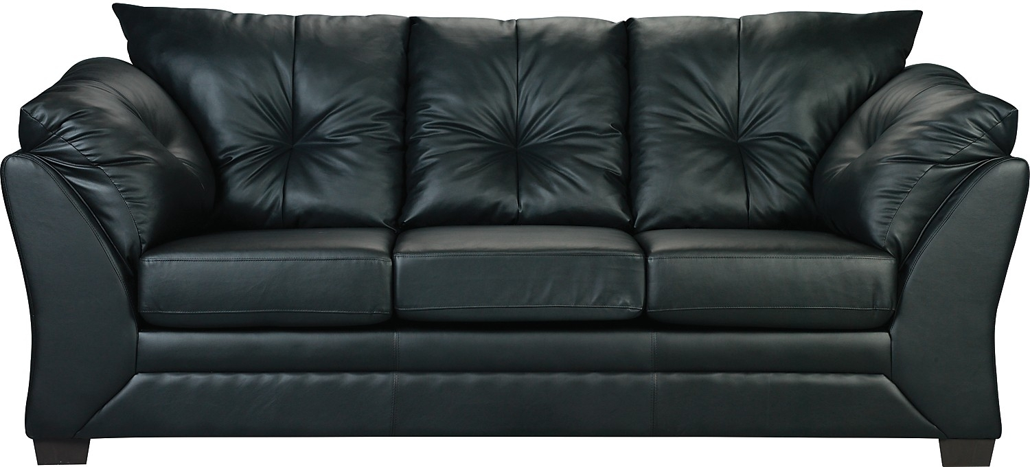 Sofa Max En Similicuir – Noir | Faux Leather Sofa, Living Room Sofa Inside The Brick Leather Sofas (View 7 of 10)